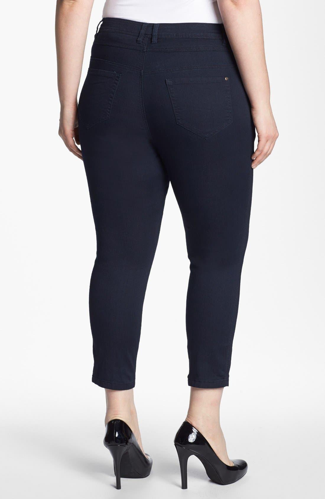 Alternate Image 2  - Evans High Waist Slim Ankle Jeans (Plus Size)