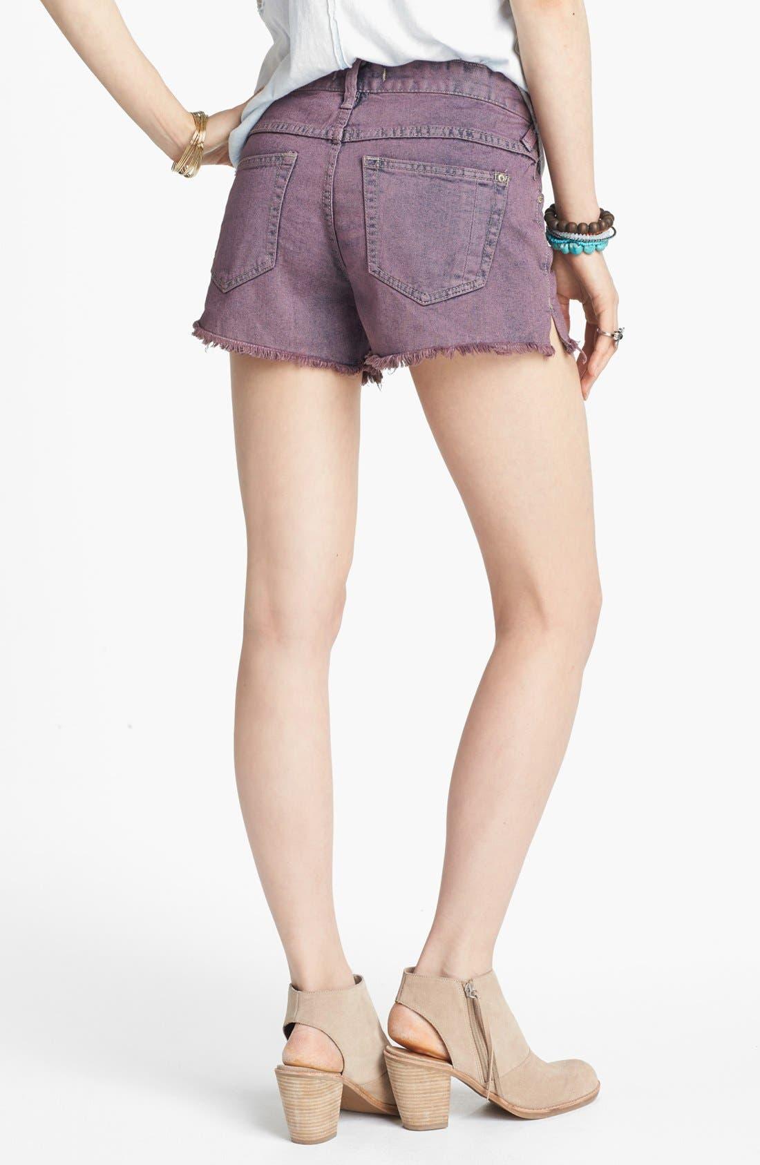 Alternate Image 2  - Free People Overdyed Cutoff Denim Shorts (Lavender Haze)