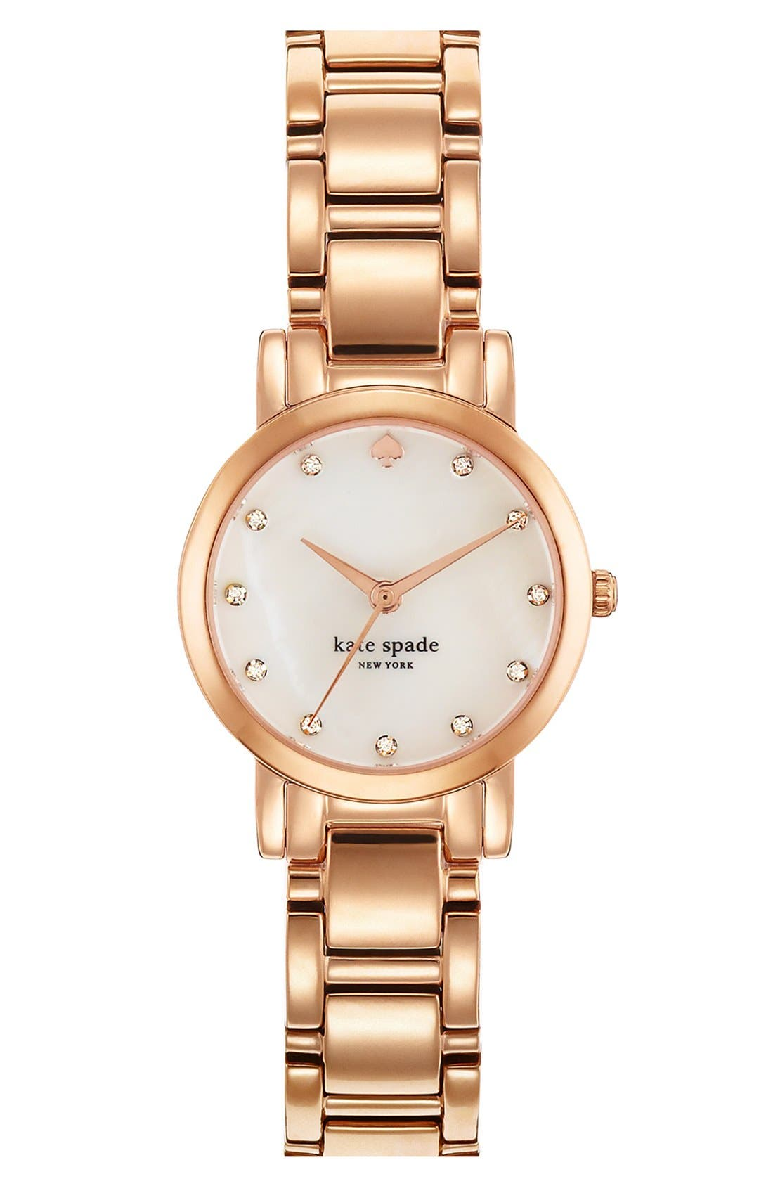 Main Image - kate spade new york 'gramercy mini' crystal index watch, 24mm