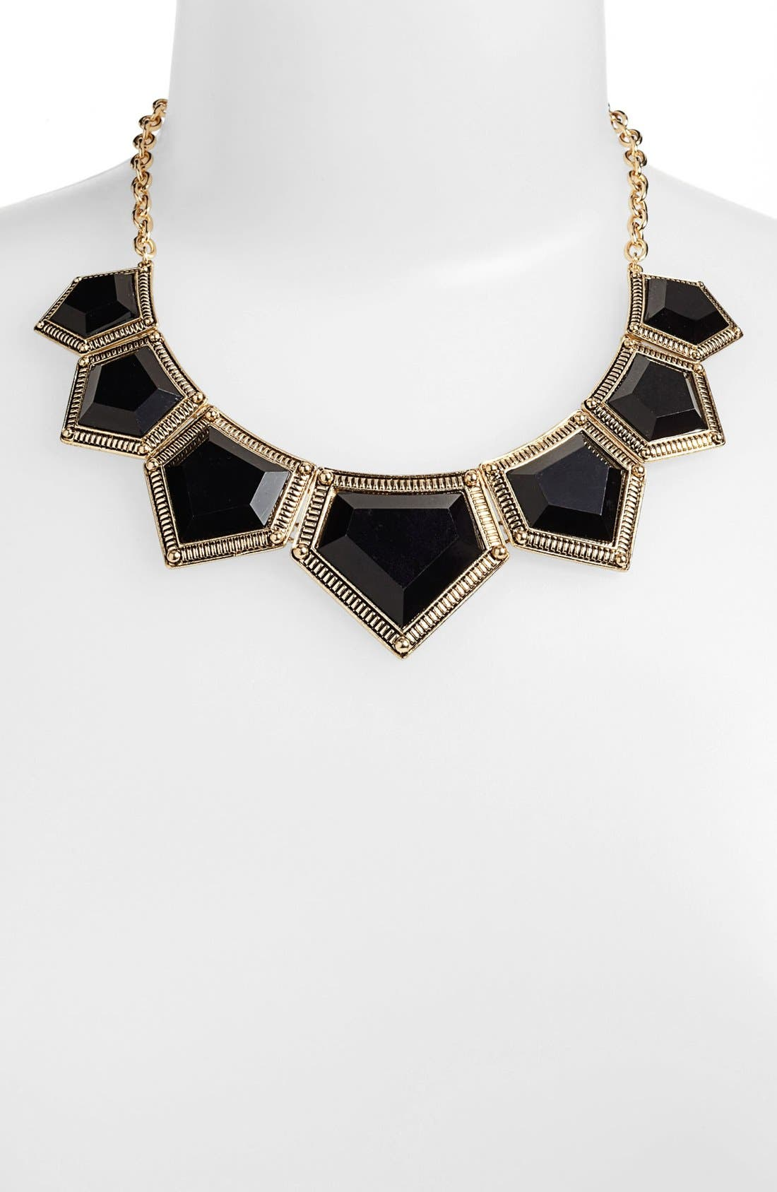 Alternate Image 1 Selected - BP. Geometric Statement Necklace (Juniors)