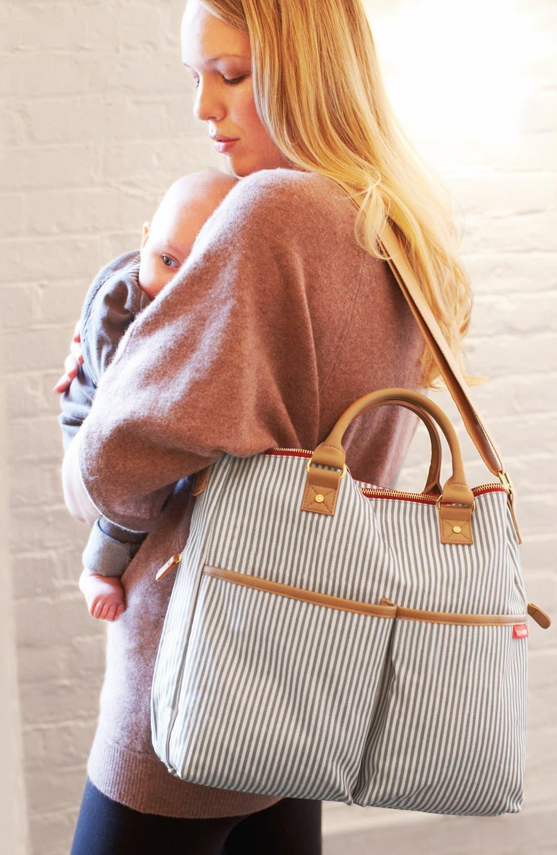 'Duo' Diaper Bag,                             Alternate thumbnail 2, color,                             Grey