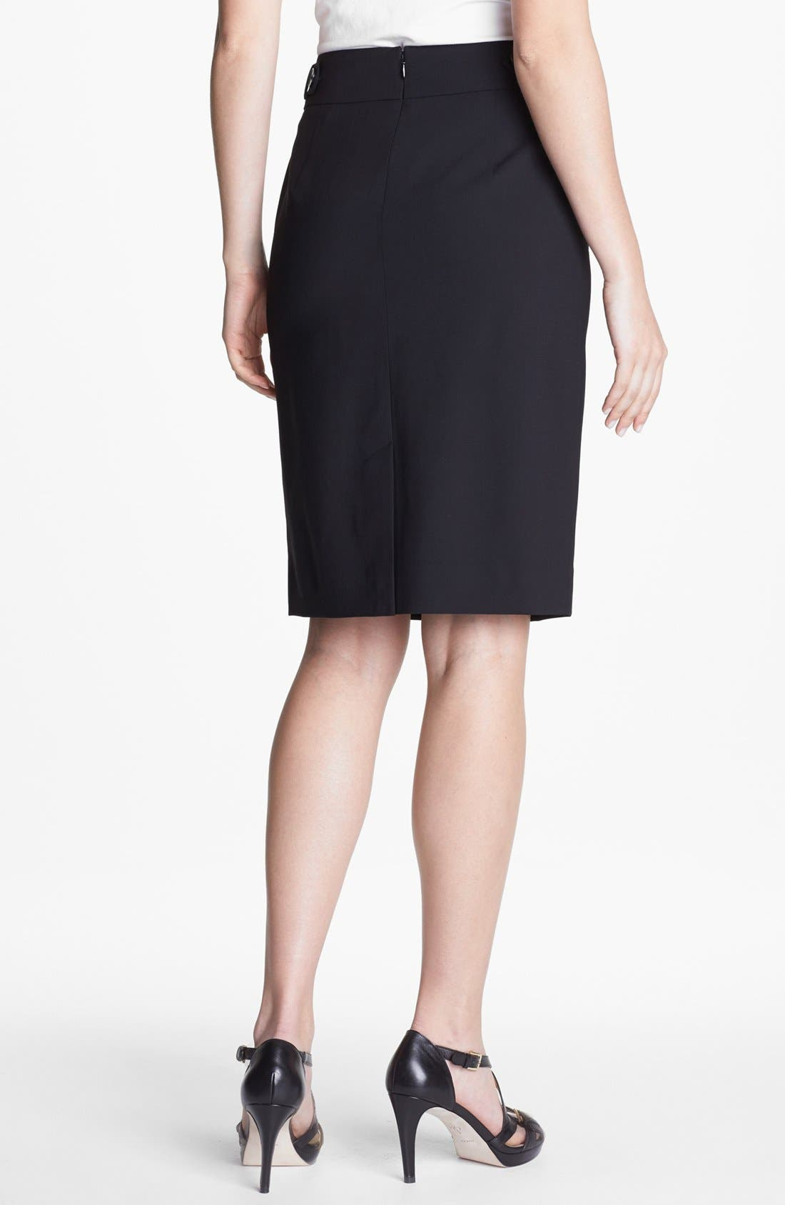 Alternate Image 2  - Classiques Entier® Stretch Wool Skirt
