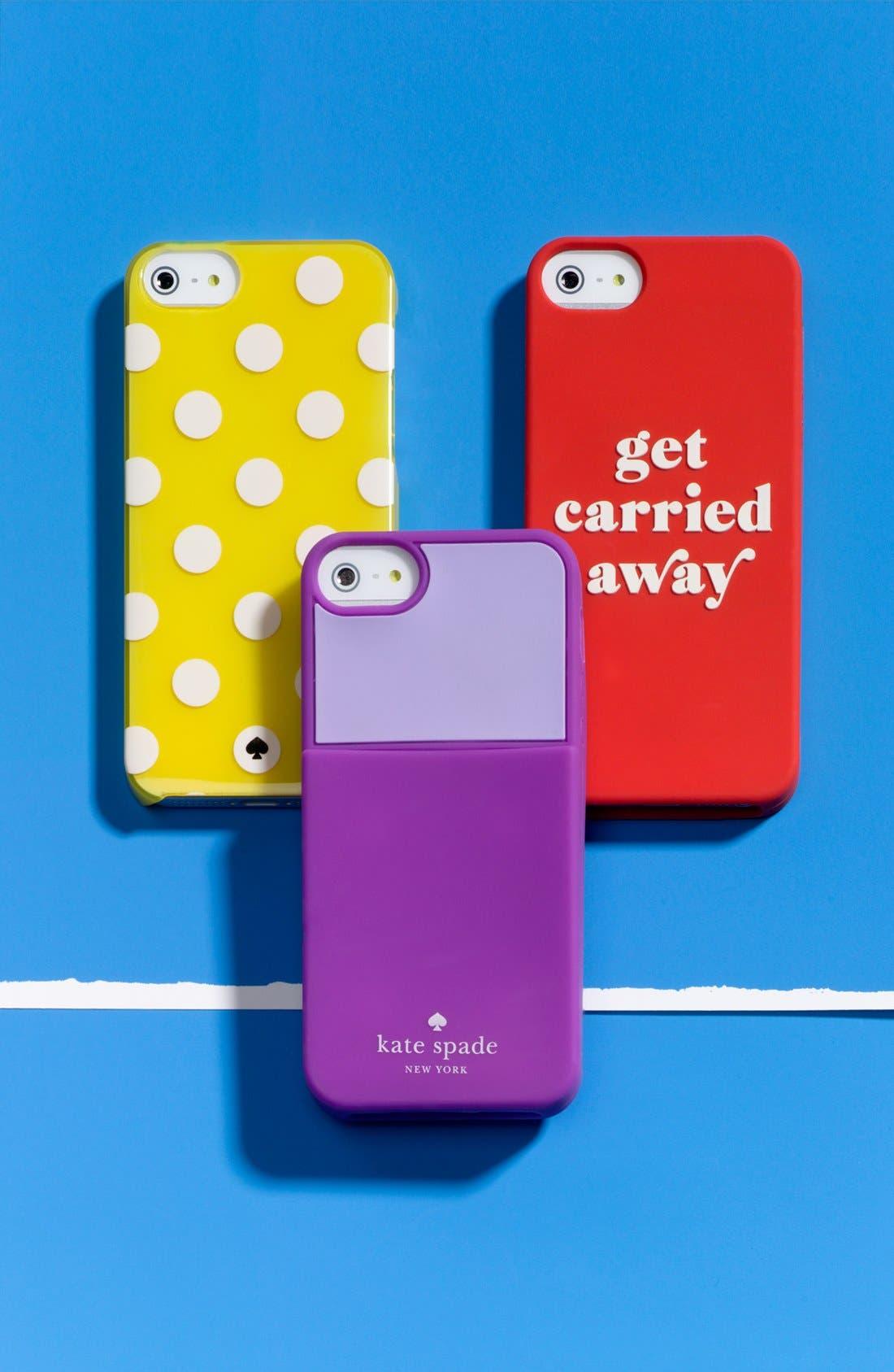 Alternate Image 2  - kate spade new york 'color block' card holder iPhone 5 & 5S case