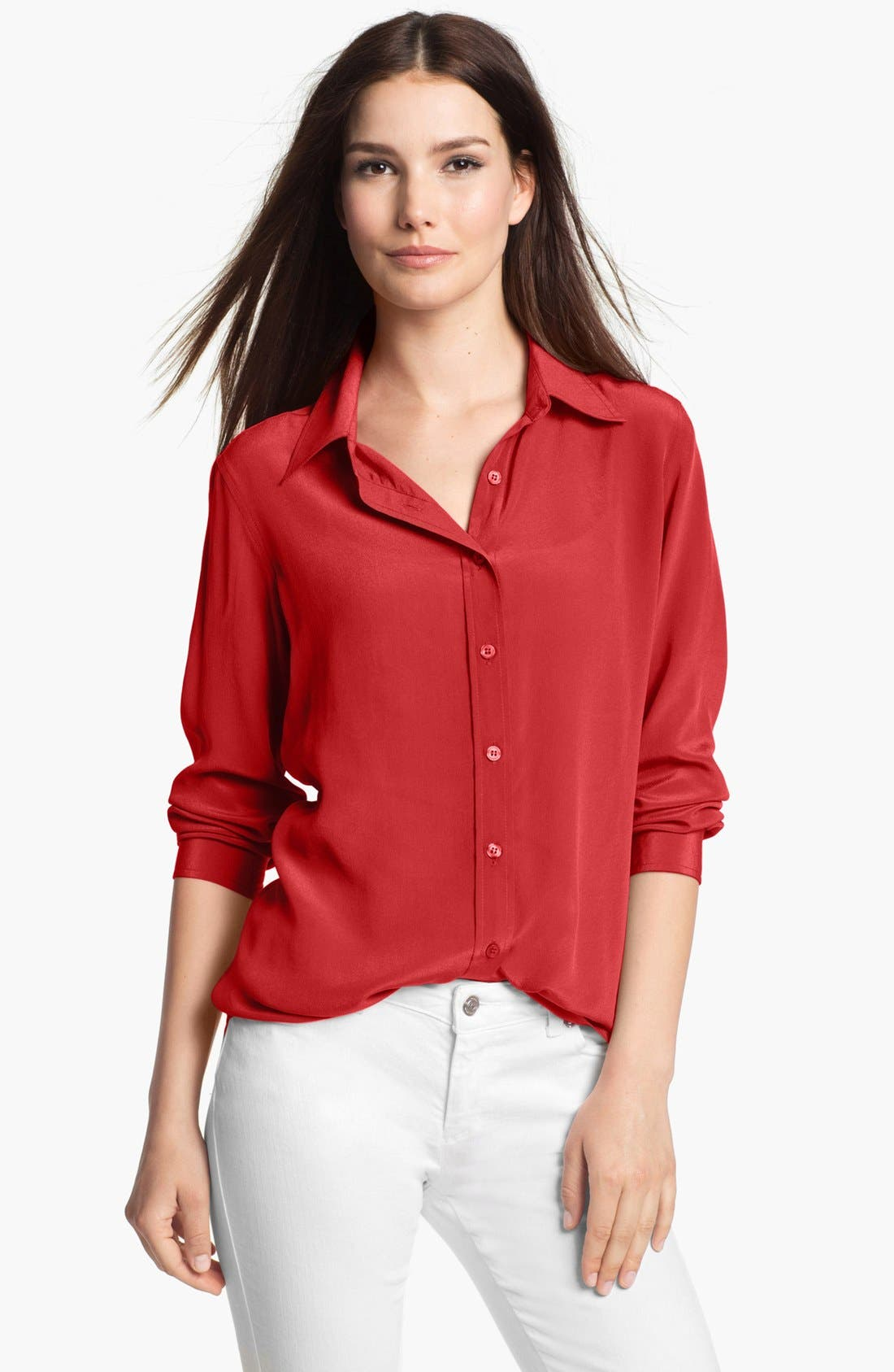 Main Image - Pure Amici Solid Silk Shirt