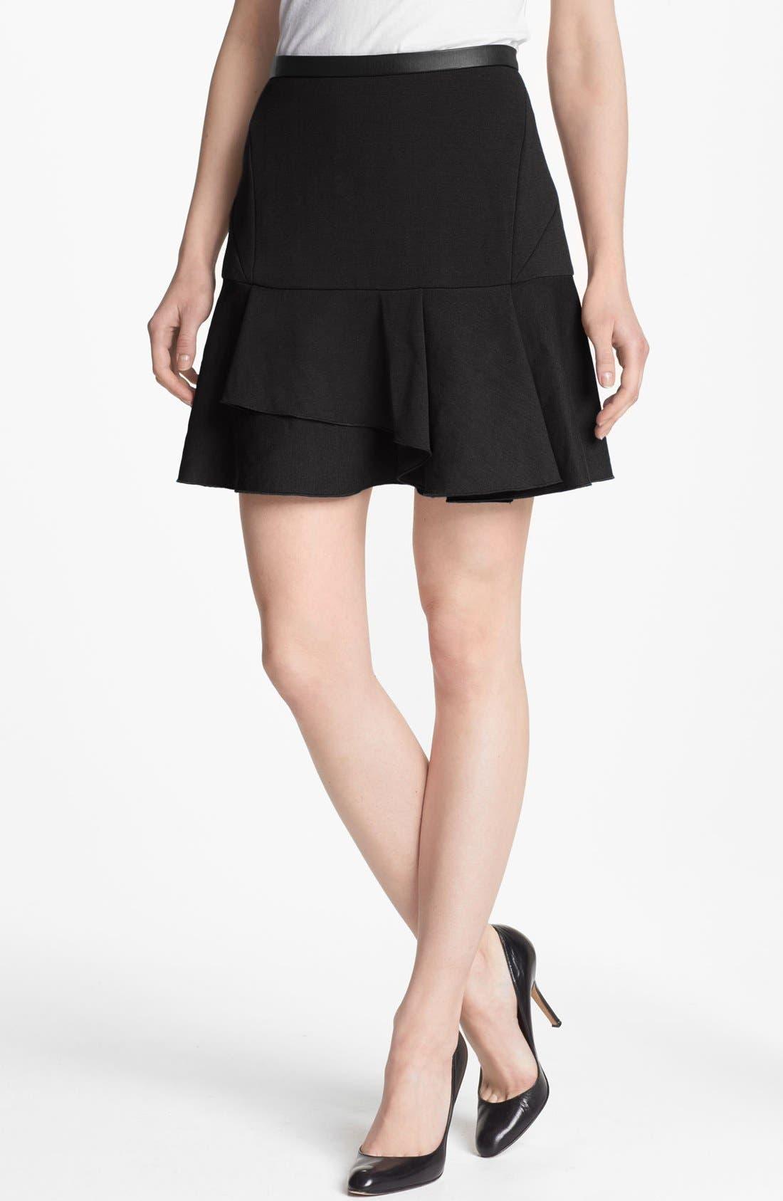 Alternate Image 1 Selected - Robbi & Nikki Asymmetrical Ruffle Skirt