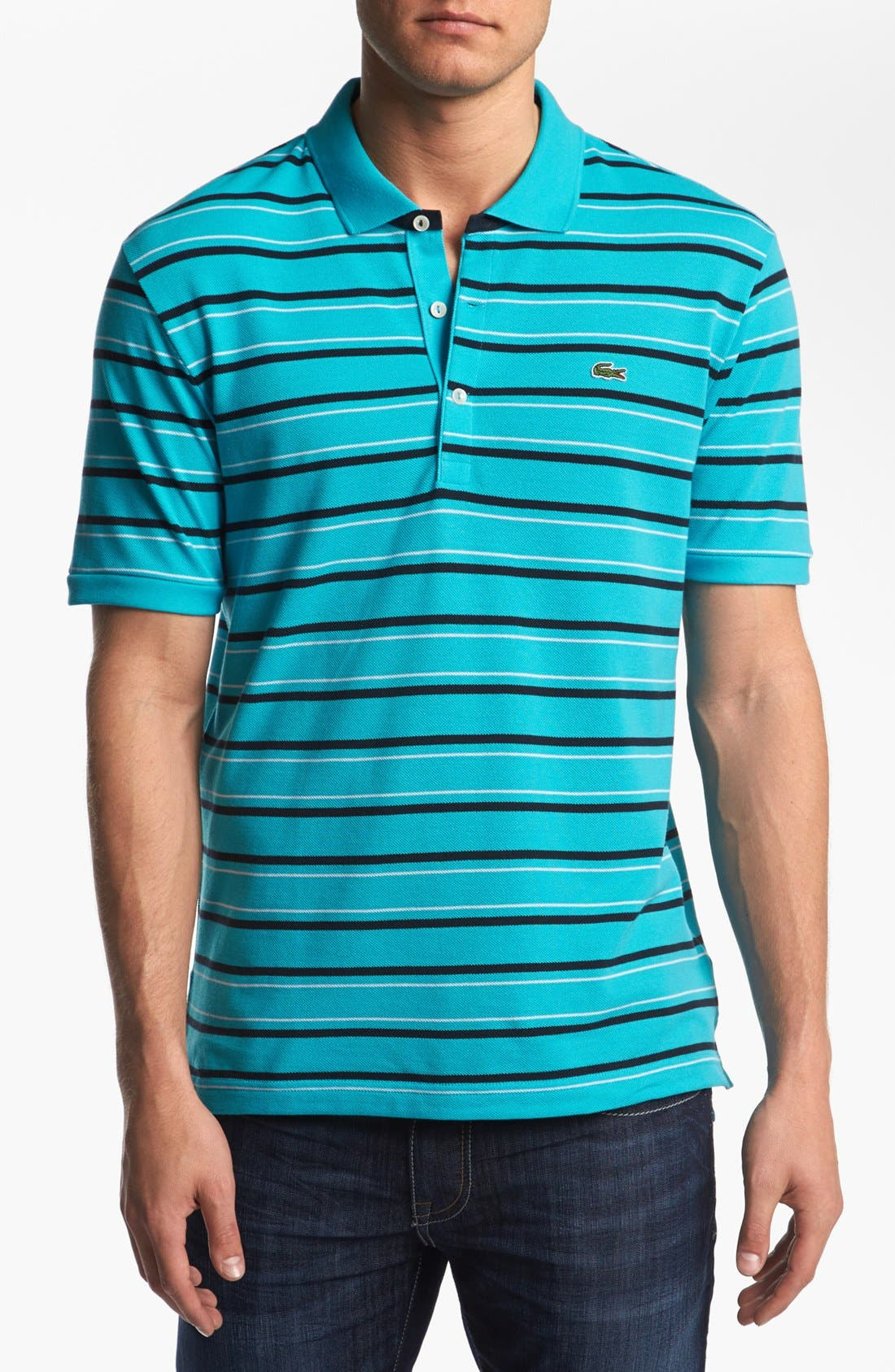 Alternate Image 1 Selected - Lacoste Stripe Piqué Polo