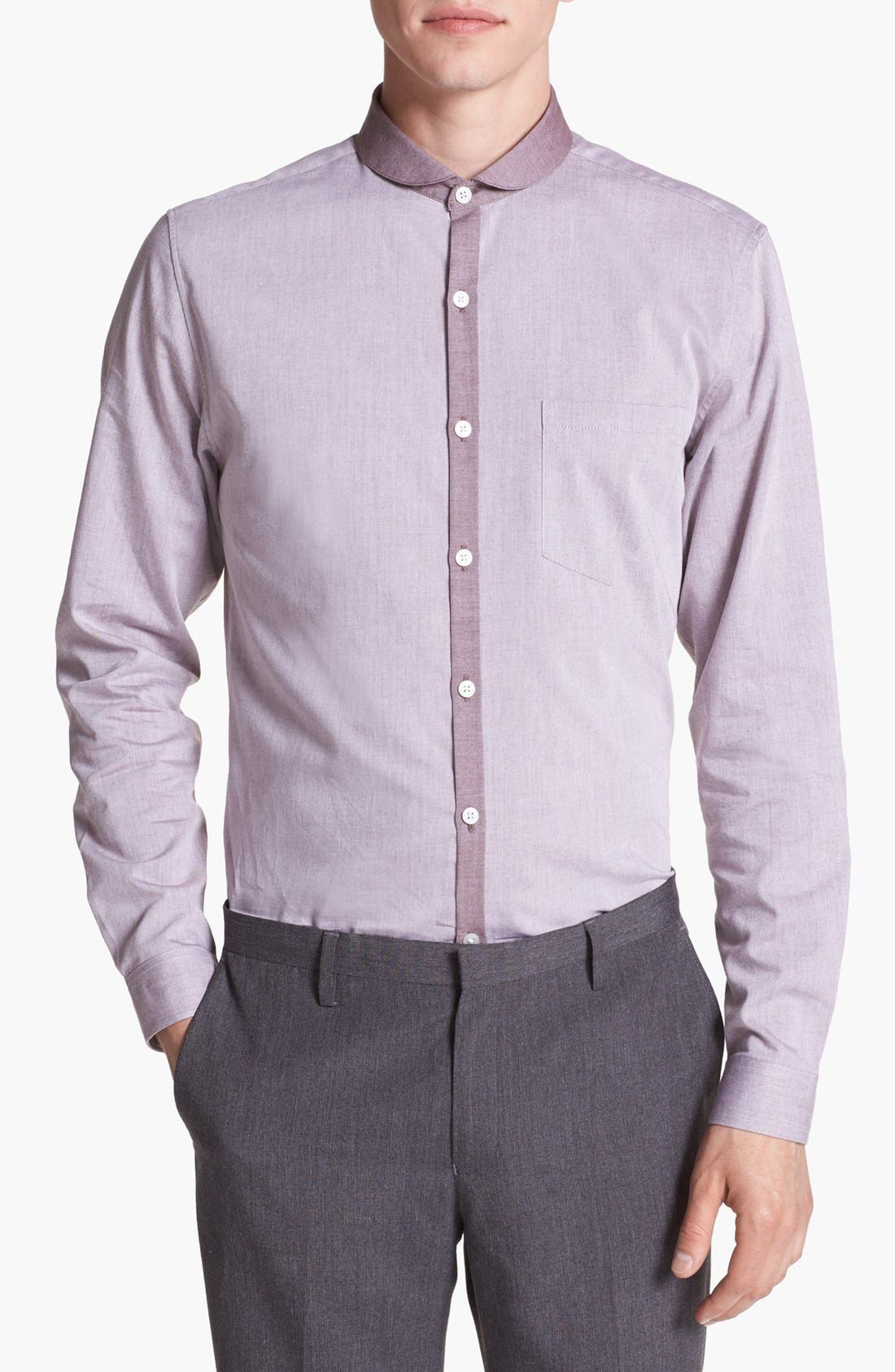Alternate Image 1 Selected - Topman 'Smart' Round Collar Dress Shirt