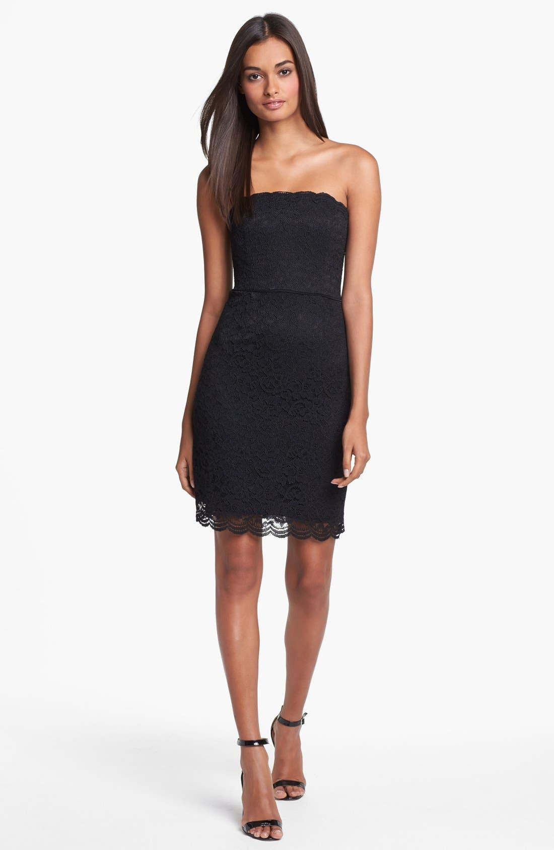 Main Image - Diane von Furstenberg 'Walker' Lace Tube Dress