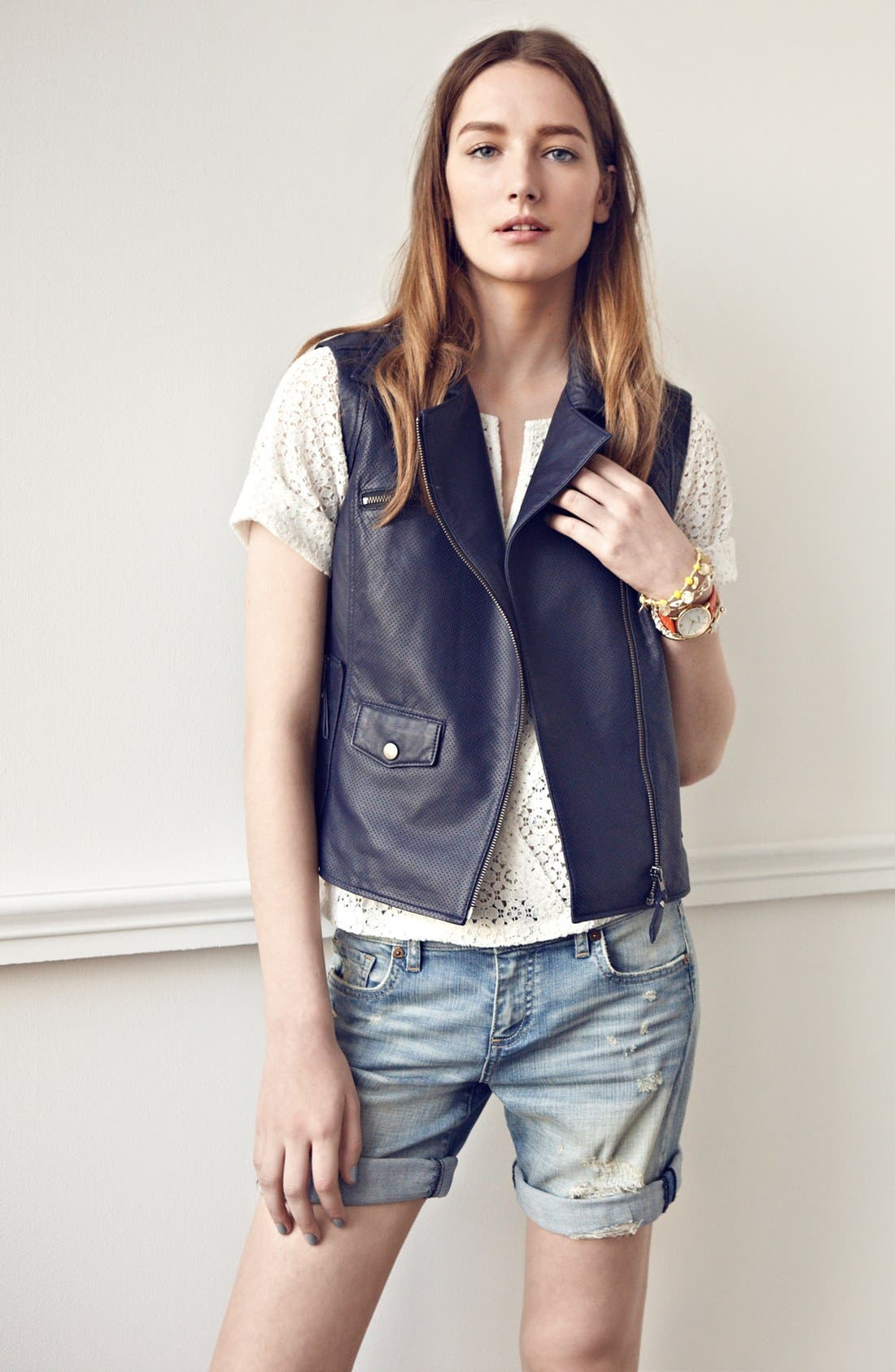 Alternate Image 2  - Truth & Pride Perforated Leather Vest