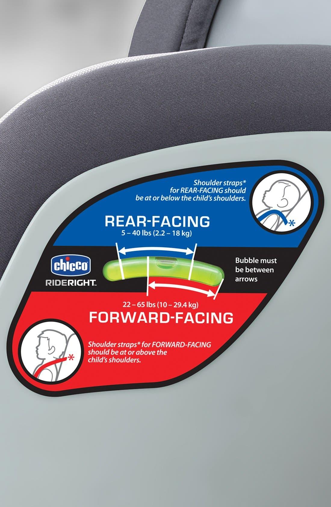 Alternate Image 4  - Chicco® NextFit Convertible Car Seat