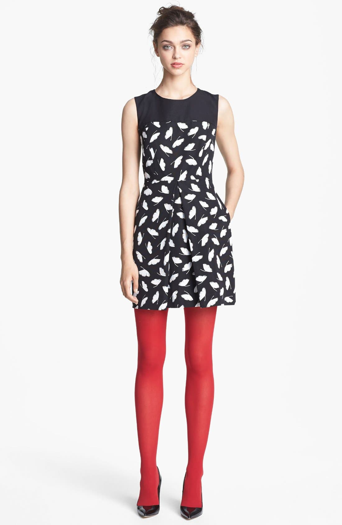Main Image - Miss Wu 'Delicate Leaf' Print Dress (Nordstrom Exclusive)