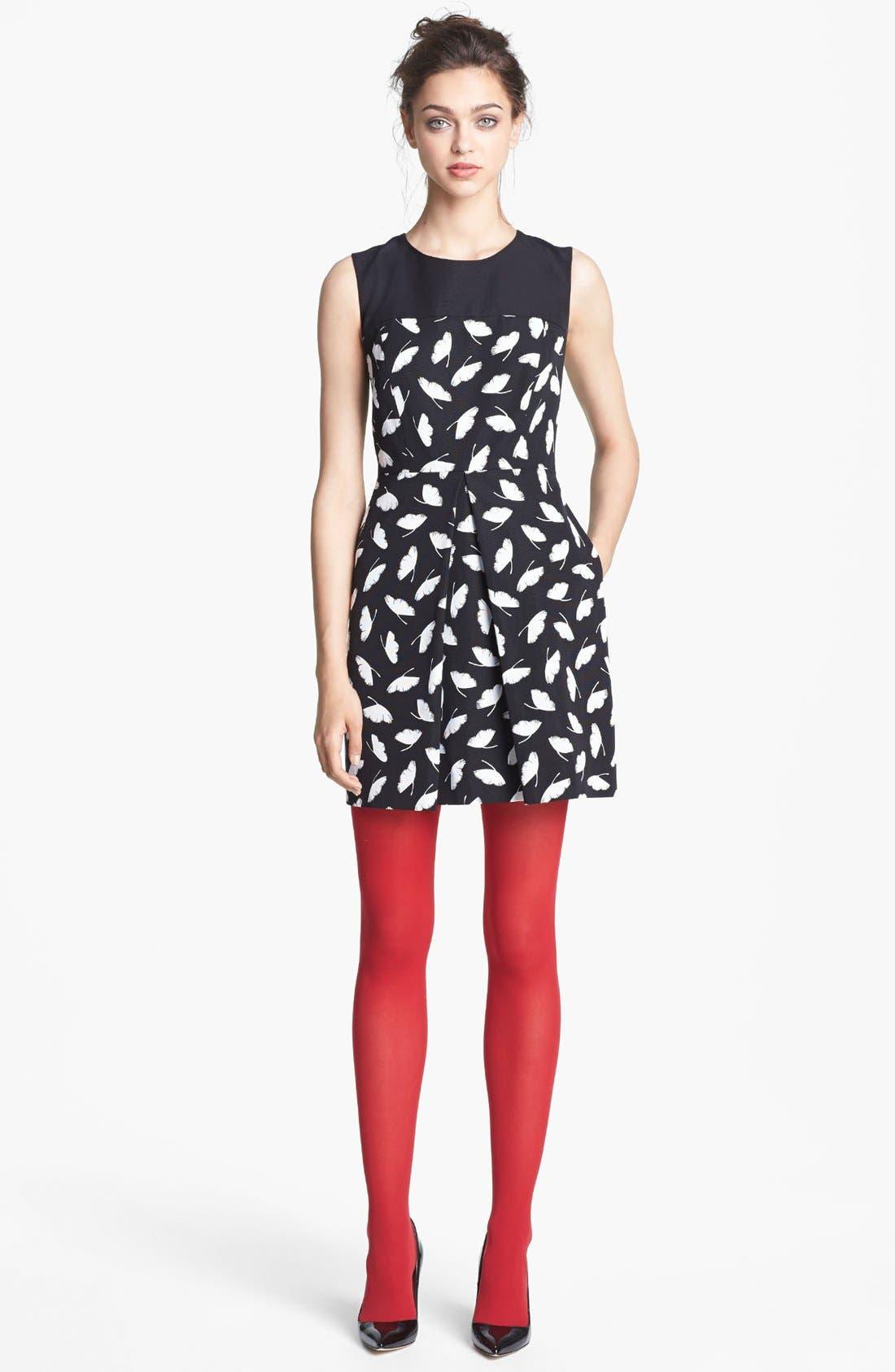 Main Image - Miss Wu 'Delicate Leaf' Print Dress (Nordstrom Exclusive)