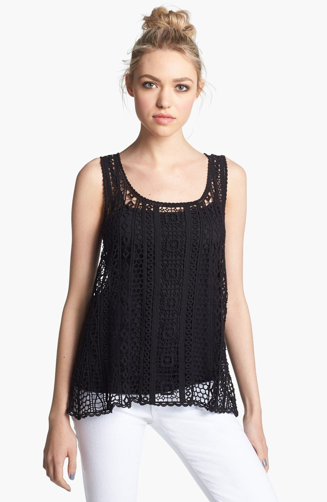 Alternate Image 1 Selected - Ella Moss 'Hailee' Crochet Tank