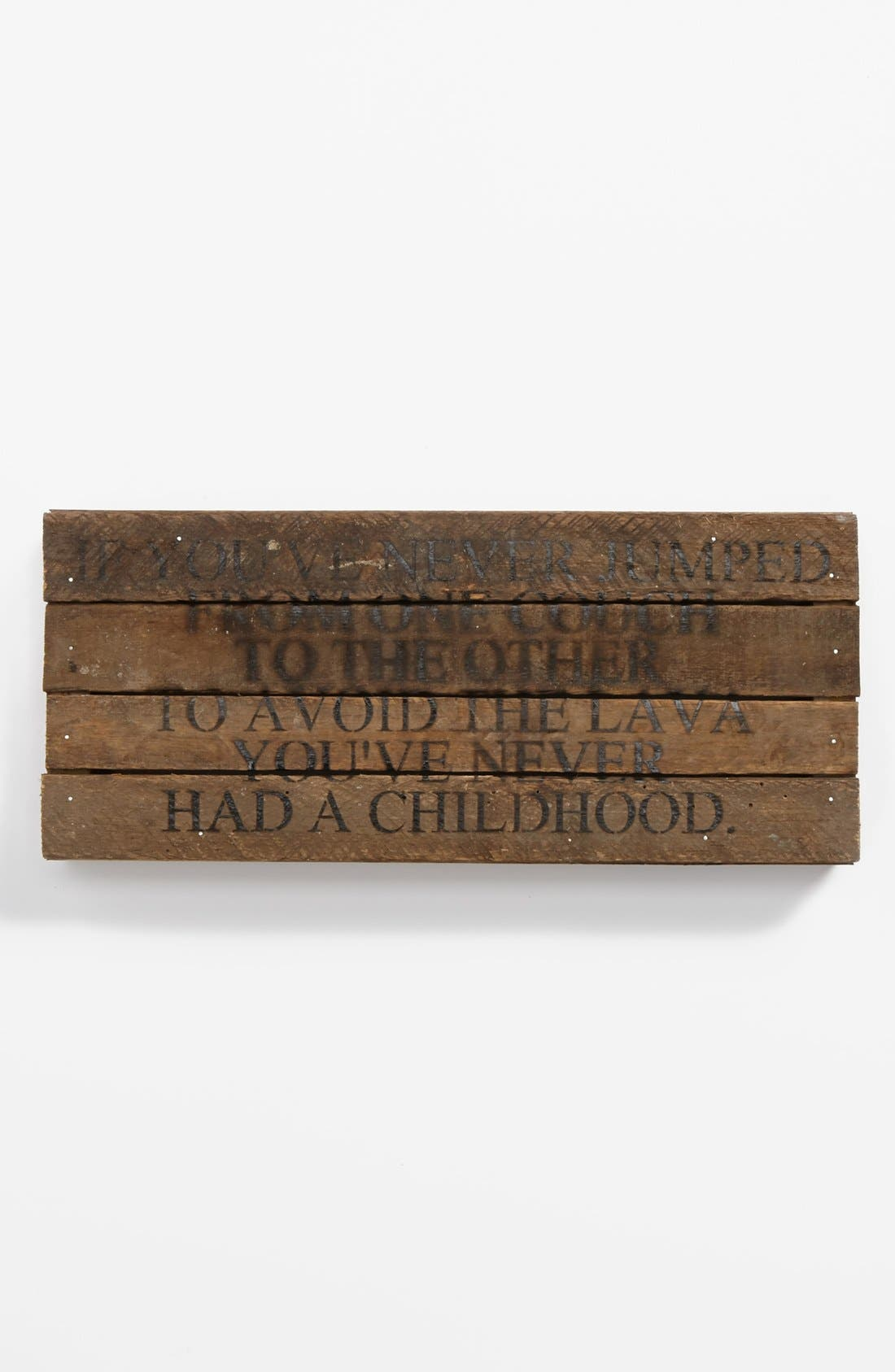 Alternate Image 1 Selected - Second Nature by Hand 'If You've Never Jumped' Wood Wall Plaque