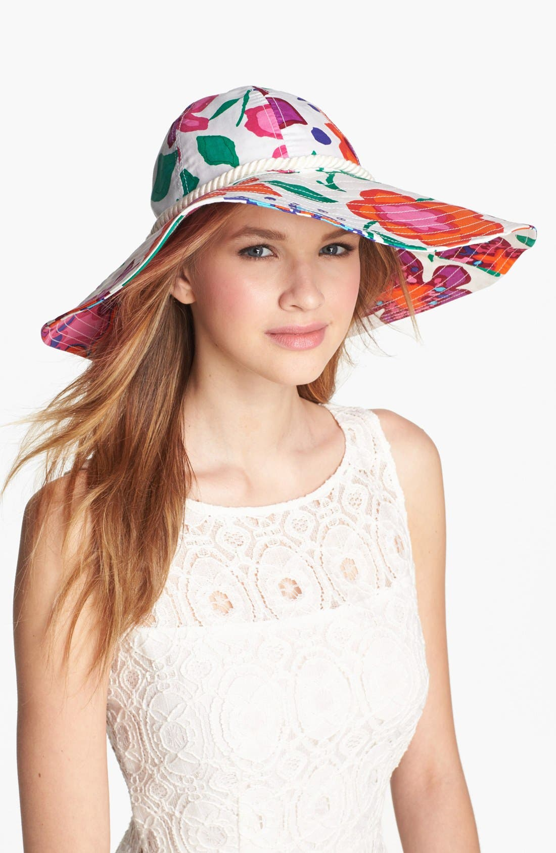 Alternate Image 1 Selected - kate spade new york 'mexican floral' sun hat