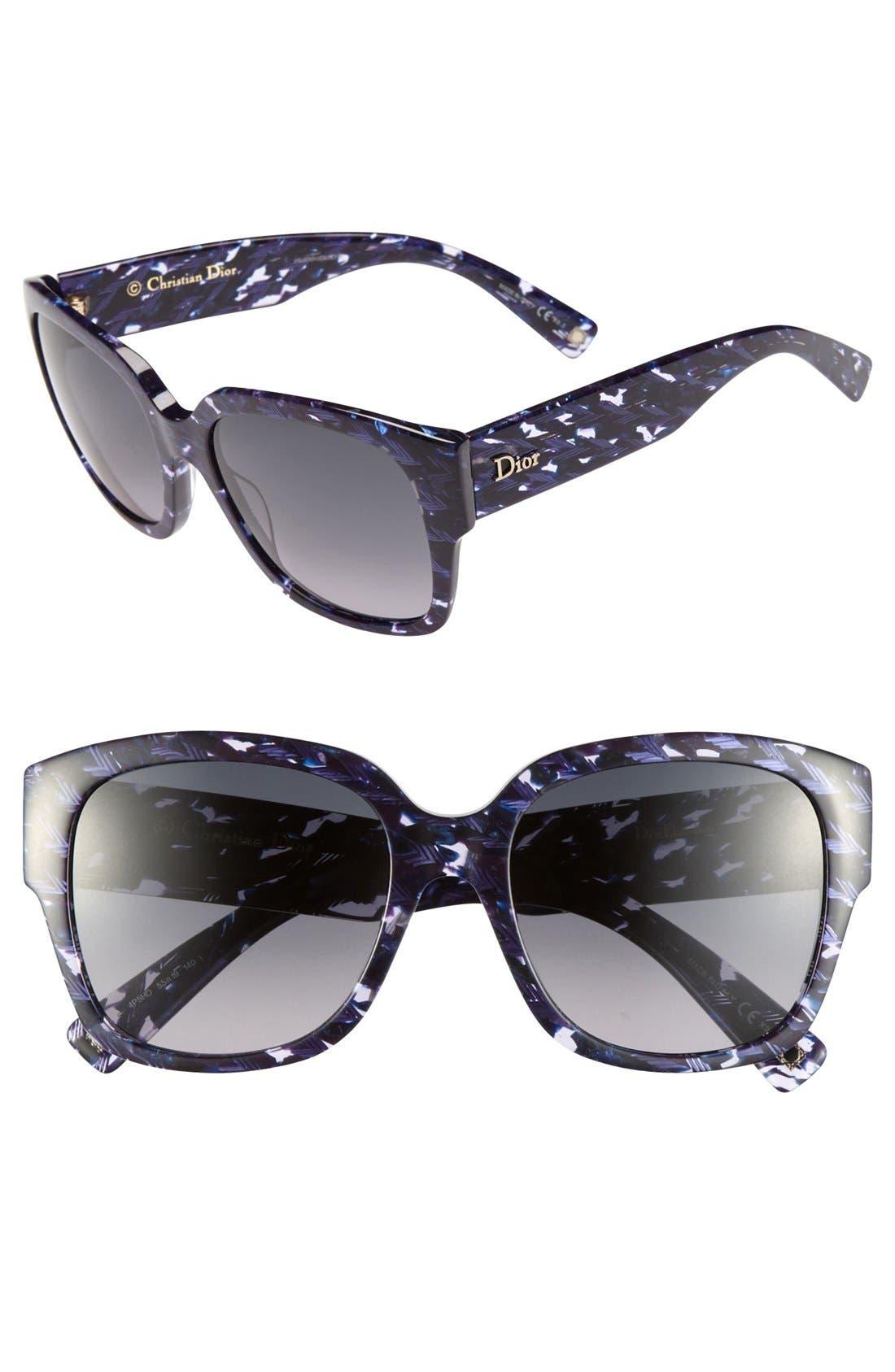 Alternate Image 1 Selected - Dior 'Flanelle' 55mm Sunglasses