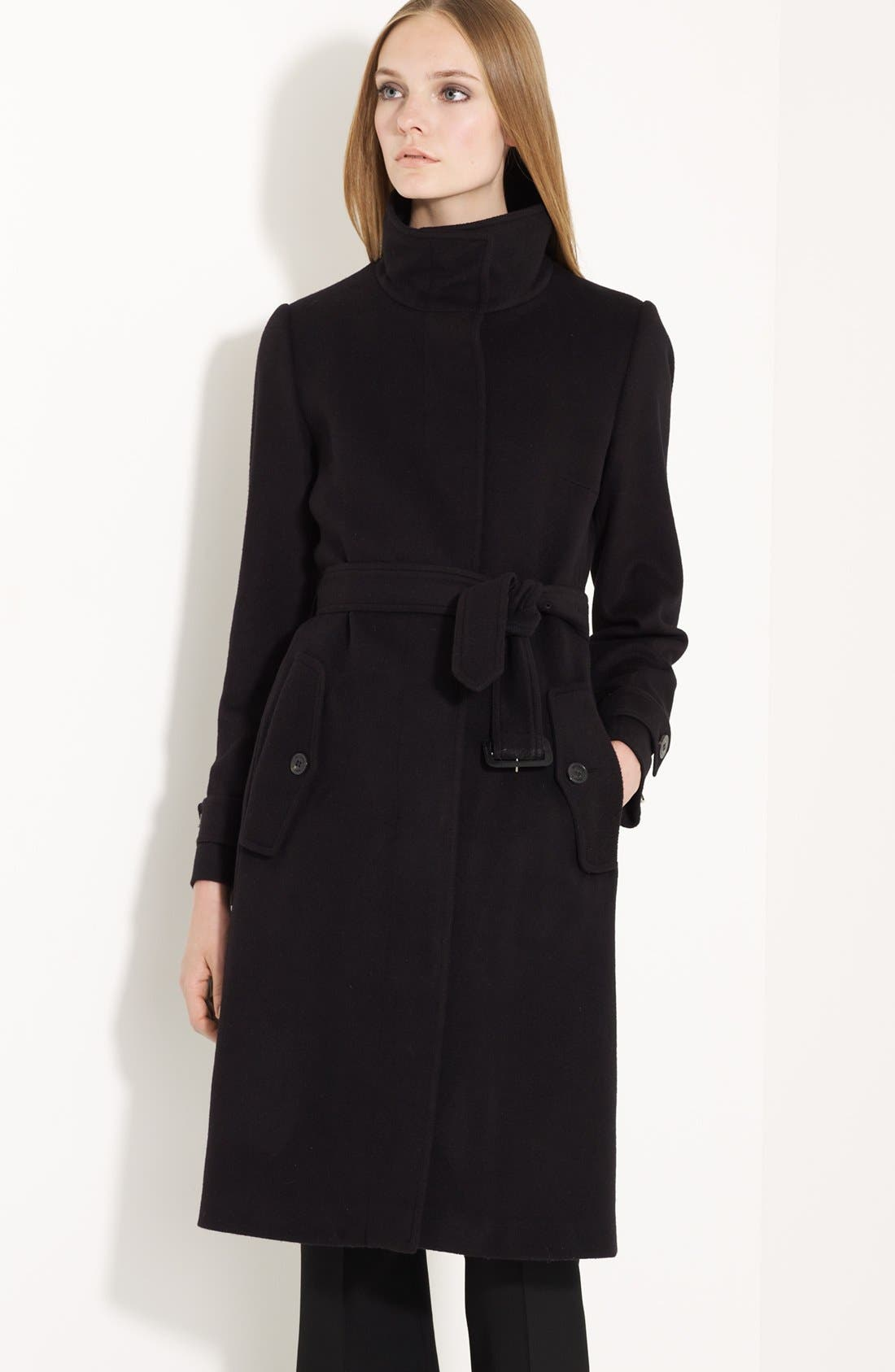 Alternate Image 1 Selected - Burberry London Belted Wool & Cashmere Coat