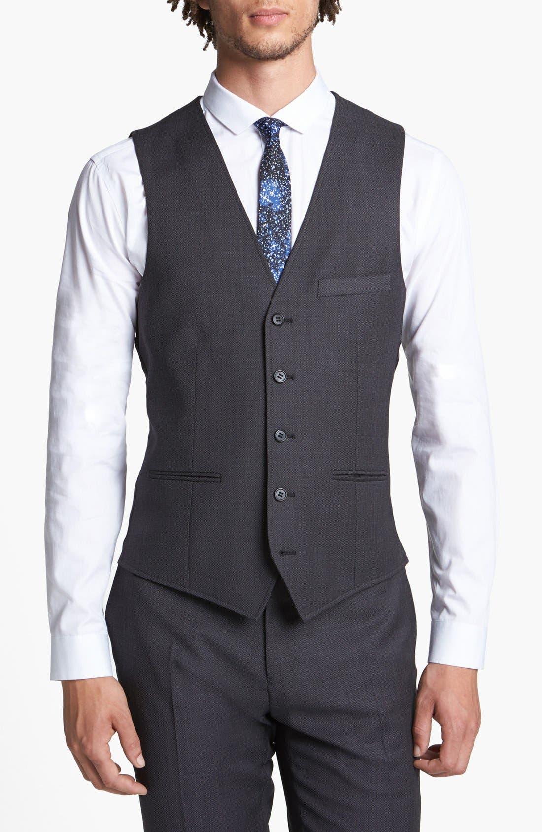 Alternate Image 1 Selected - Topman Slim Fit Vest