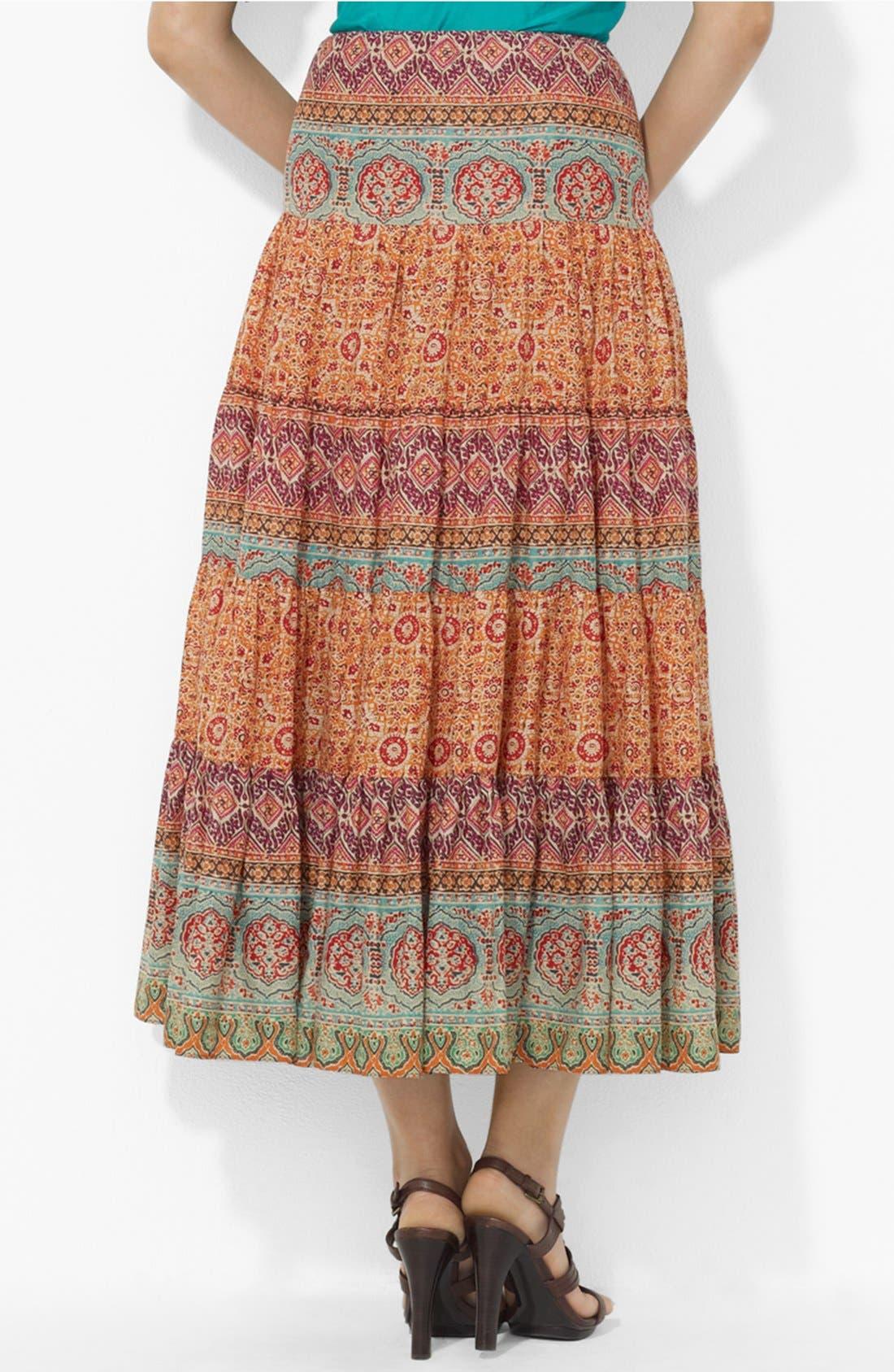 Alternate Image 2  - Lauren Ralph Lauren Tiered Midi Skirt
