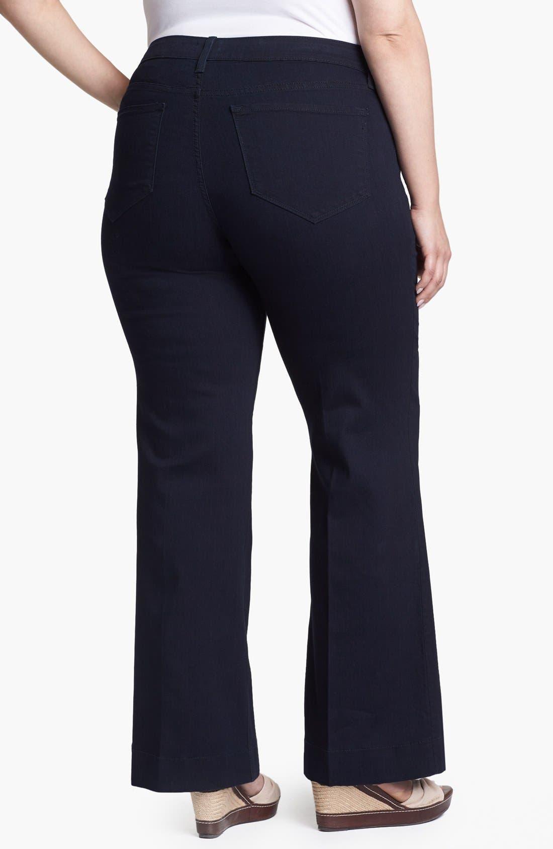 Alternate Image 2  - NYDJ 'Greta' Trouser Jeans (Plus Size)