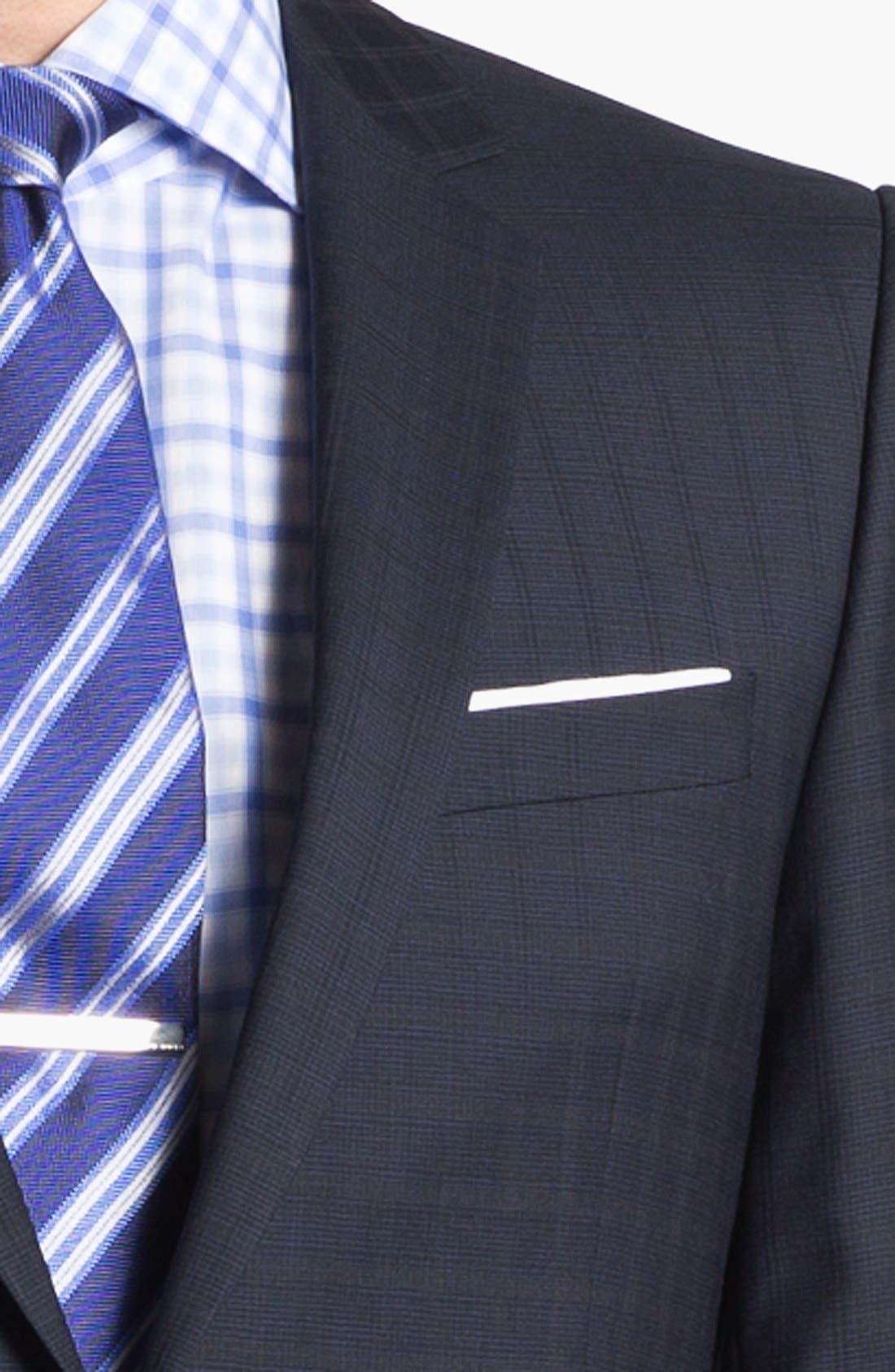 Alternate Image 2  - HUGO 'Amaro/Heise' Trim Fit Check Suit