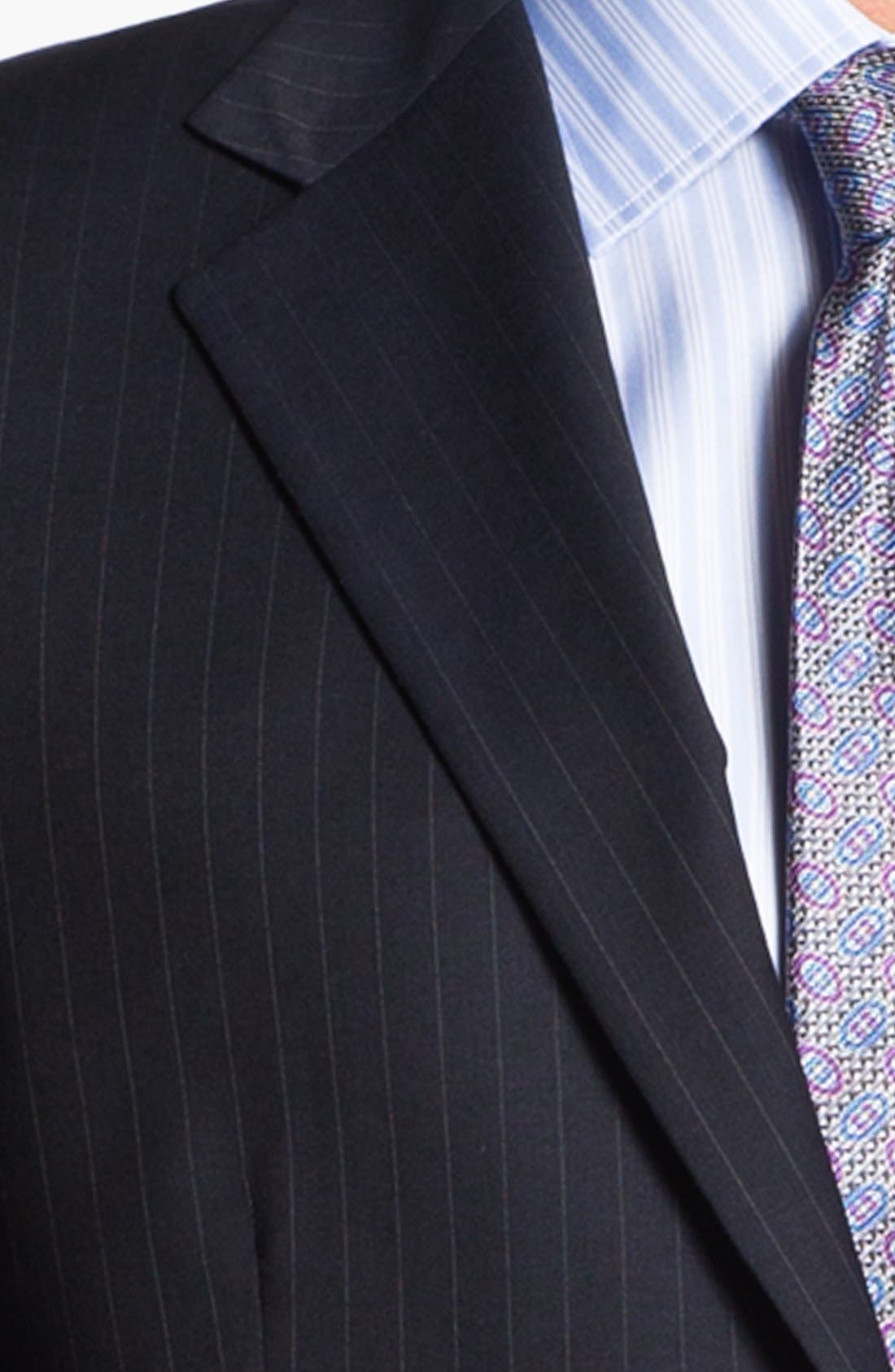 Alternate Image 2  - Joseph Abboud 'Signature Silver' Stripe Wool Suit