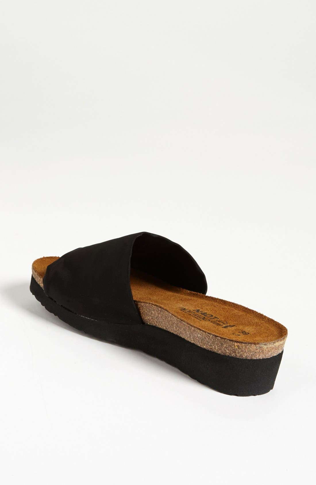 'Alana' Sandal,                             Alternate thumbnail 2, color,                             Black Stretch