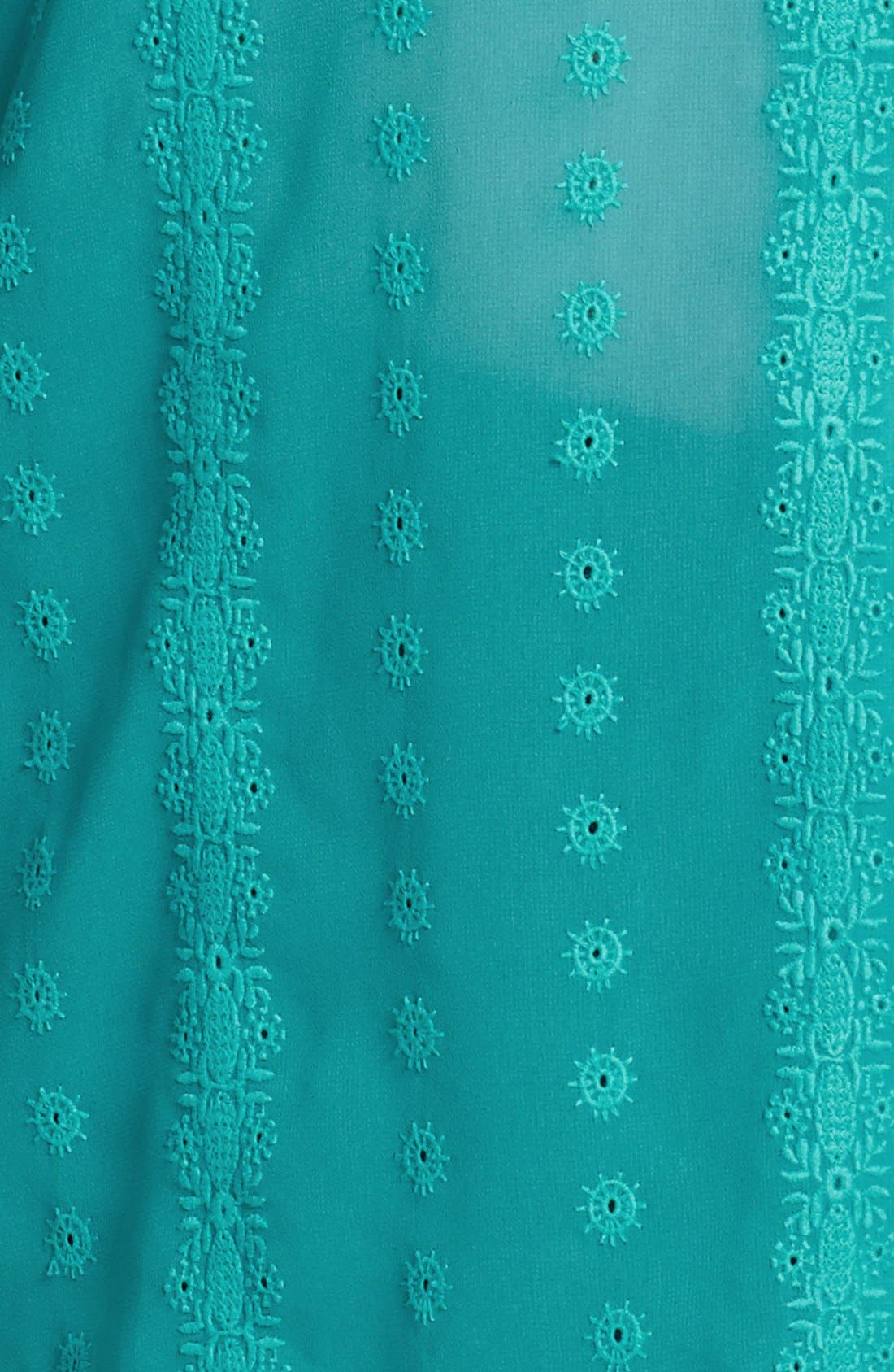 Alternate Image 3  - Sejour Embroidered Chiffon Blouse (Plus Size)