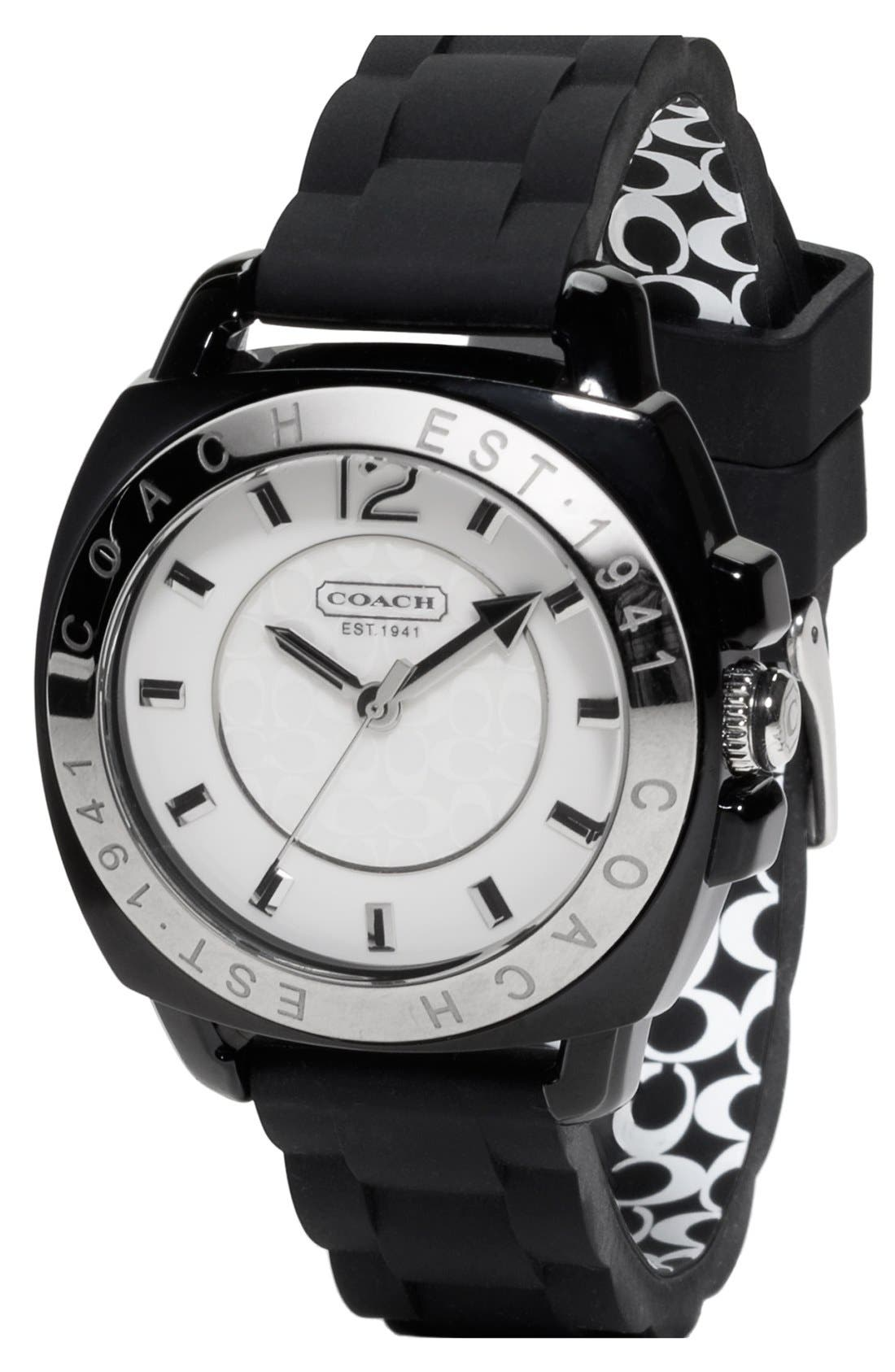 Alternate Image 1 Selected - COACH 'Boyfriend' Rubber Strap Watch, 38mm