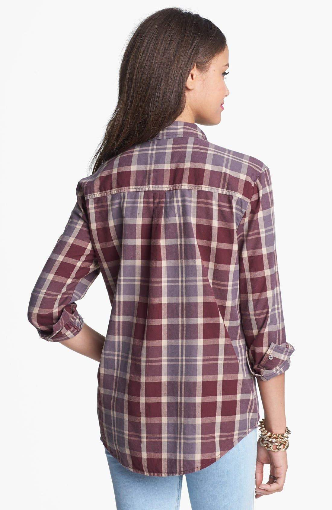Alternate Image 2  - Rubbish® Plaid Shirt (Juniors)