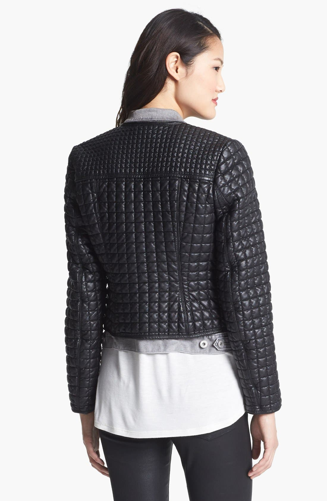 Alternate Image 4  - Two by Vince Camuto 'Hathaway' Quilted Faux Leather Jacket
