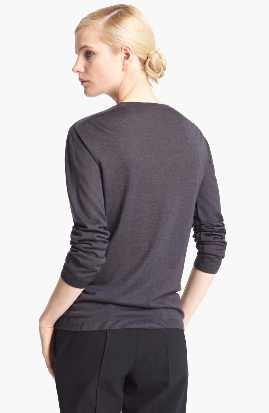 Alternate Image 2  - Jil Sander Cashmere & Silk Crewneck Sweater