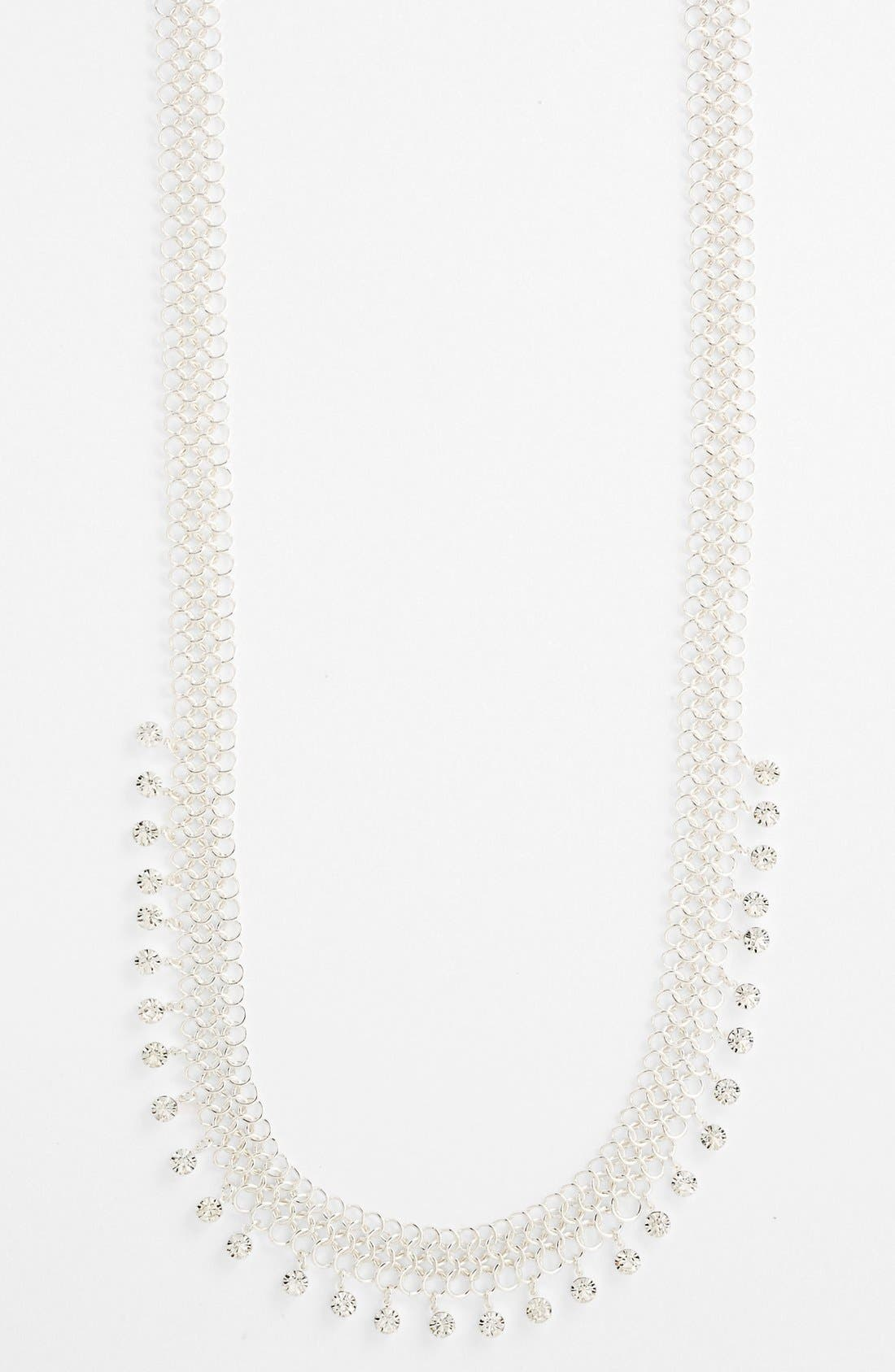 Alternate Image 1 Selected - Anne Klein Long Mesh Necklace