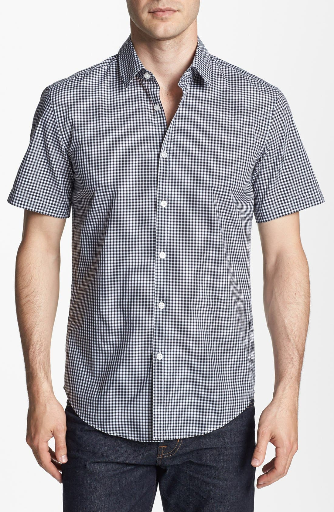 Alternate Image 1 Selected - BOSS HUGO BOSS 'Marc' Slim Fit Short Sleeve Sport Shirt