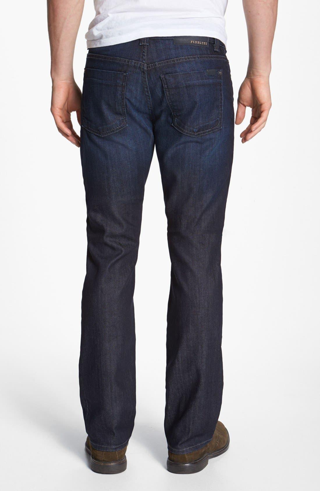 Alternate Image 2  - Fidelity Denim 'Impala' Straight Leg Jeans (Lennon Dark Wash)