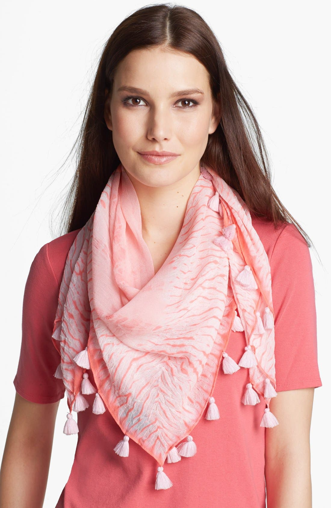 Main Image - Eileen Fisher Square Scarf with Tassels