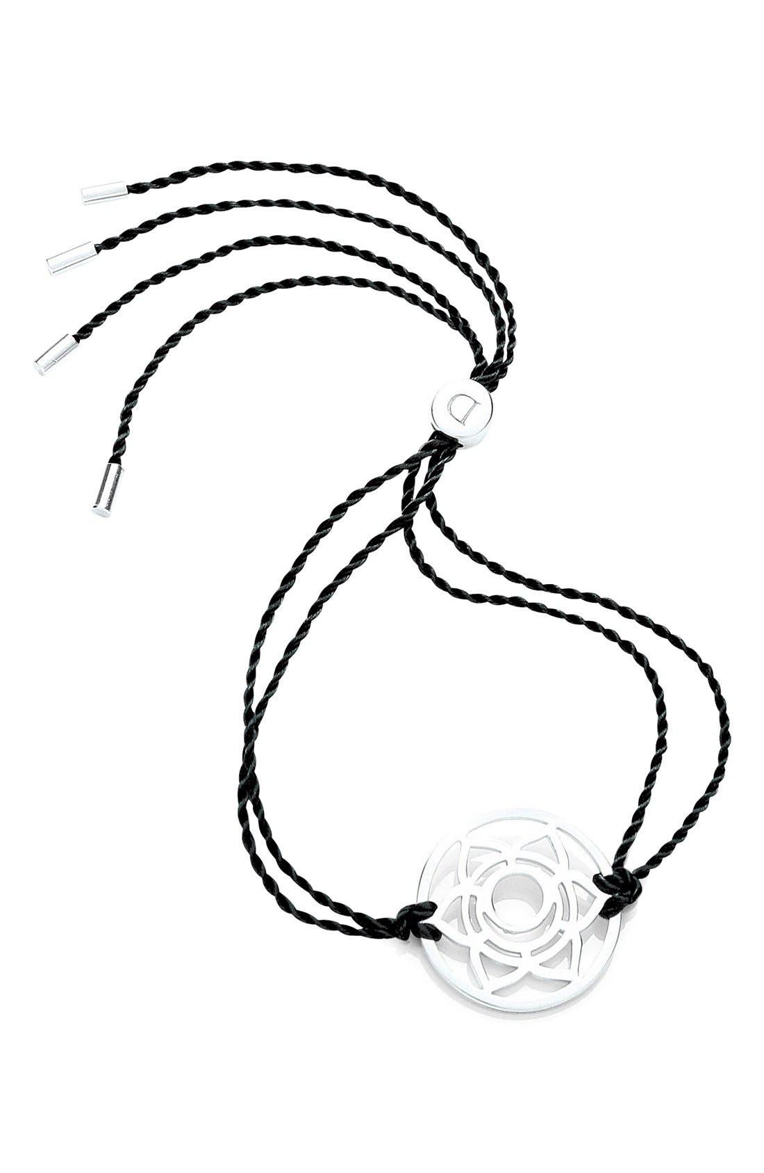 'Sacral Chakra' Cord Bracelet,                             Main thumbnail 1, color,                             925 Sterling Silver/Black