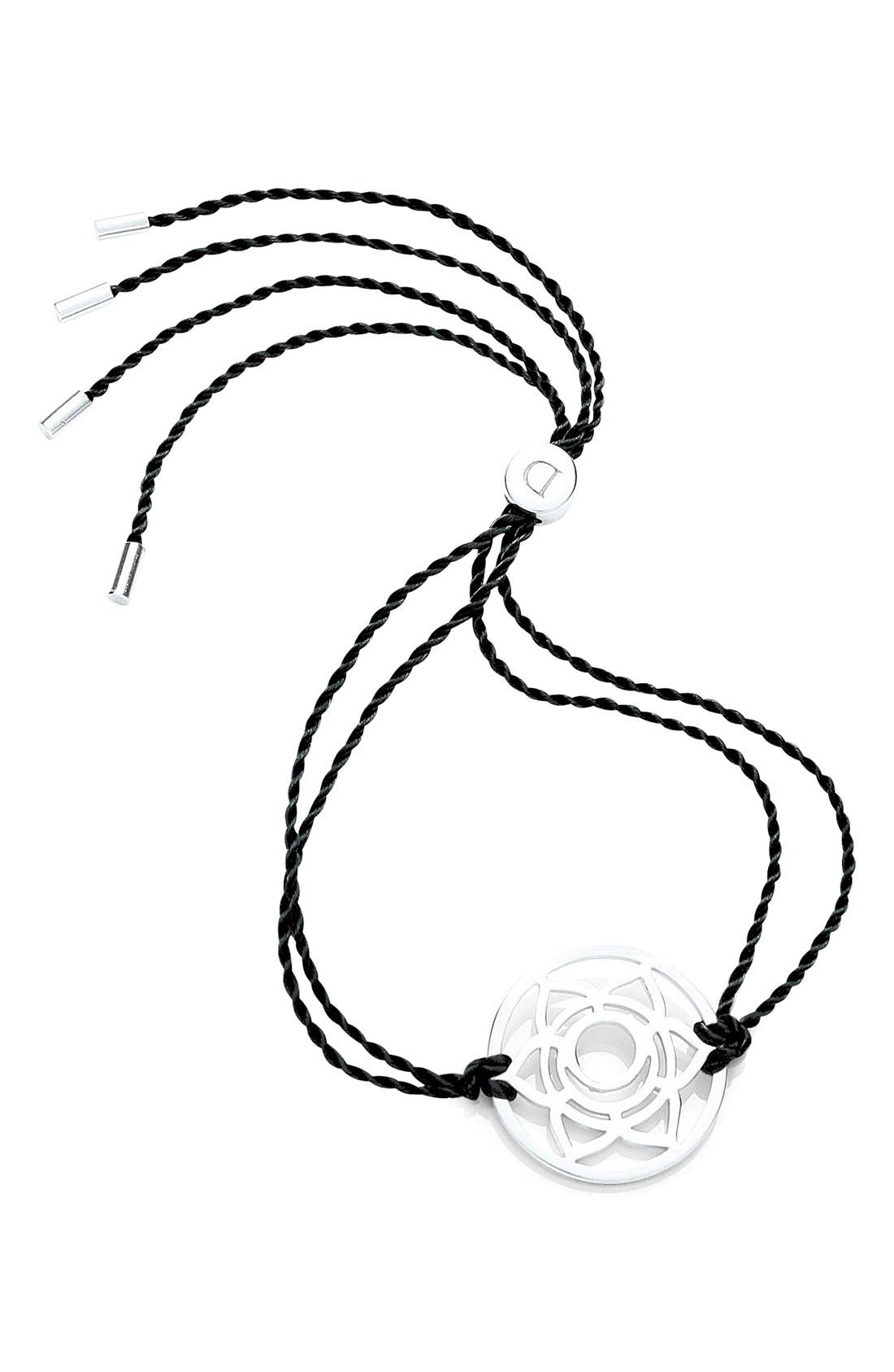 'Sacral Chakra' Cord Bracelet,                         Main,                         color, 925 Sterling Silver/Black