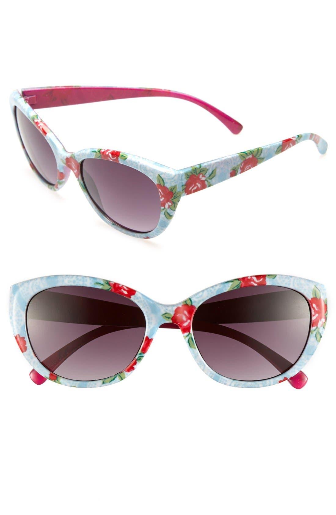 Alternate Image 1 Selected - Fantas Eyes Cat's Eye Sunglasses (Girls)