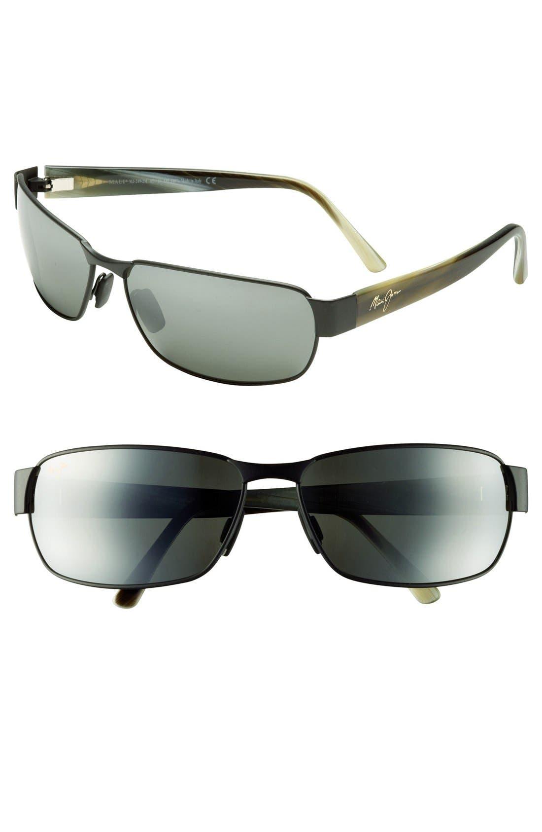 'Black Coral - PolarizedPlus<sup>®</sup>2' 65mm Sunglasses,                         Main,                         color, Matte Black