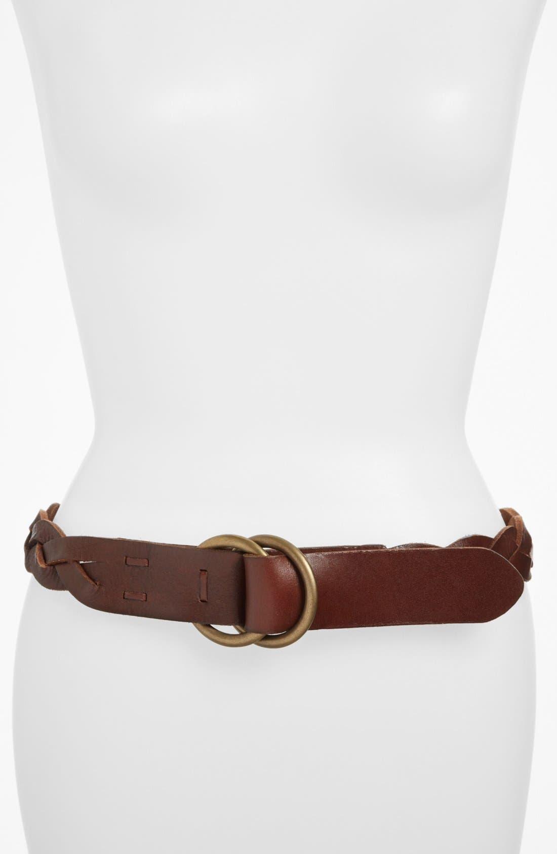 Alternate Image 1 Selected - Lauren Ralph Lauren 'Miracle Braid' Leather Belt