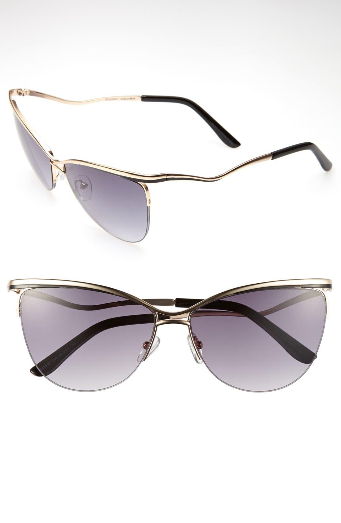 Alternate Image 1 Selected - Outlook Eyewear 'Bolero' 60mm Sunglasses