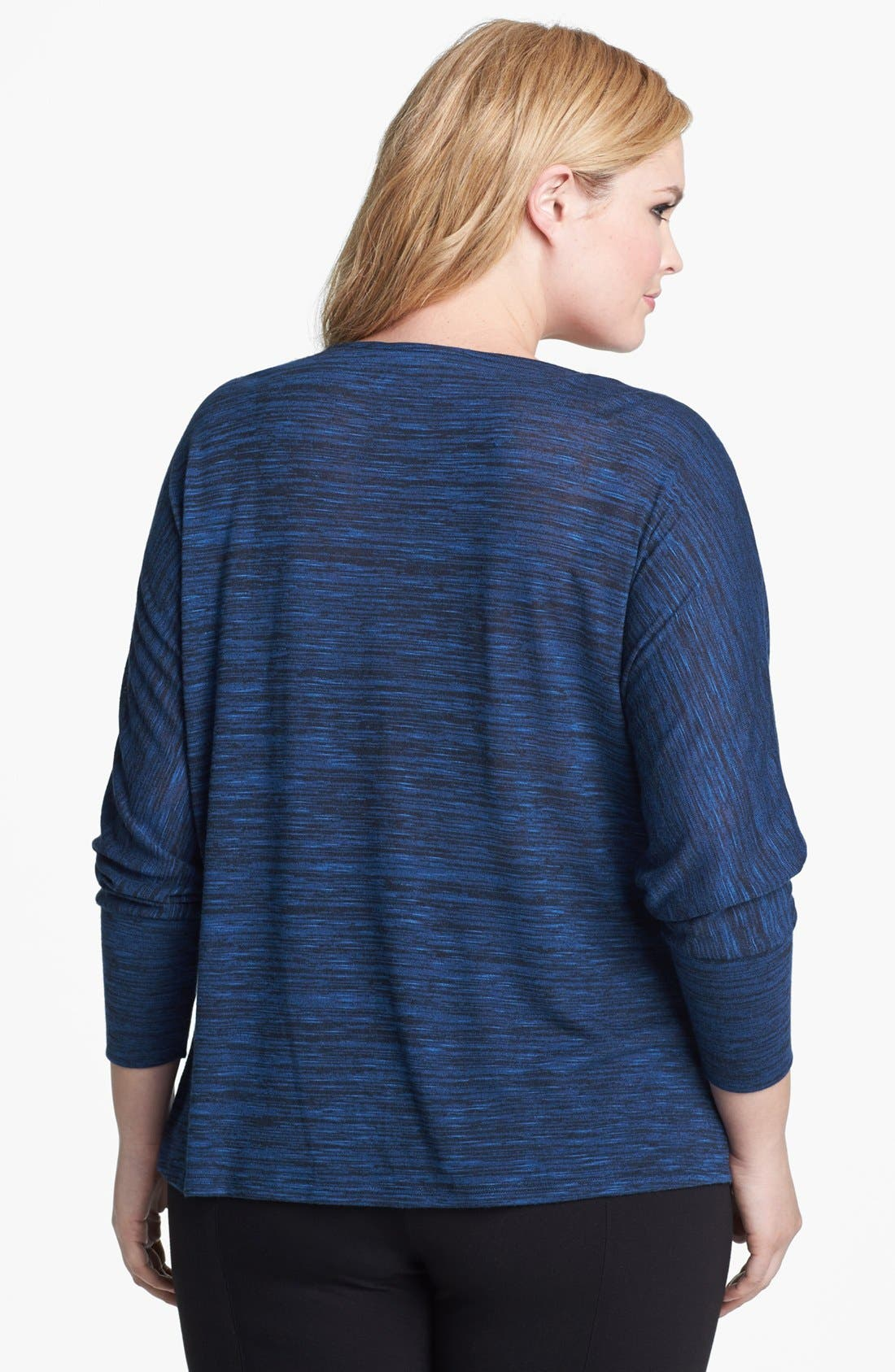 Alternate Image 2  - Sejour Shoulder Zip Drape Top (Plus Size)