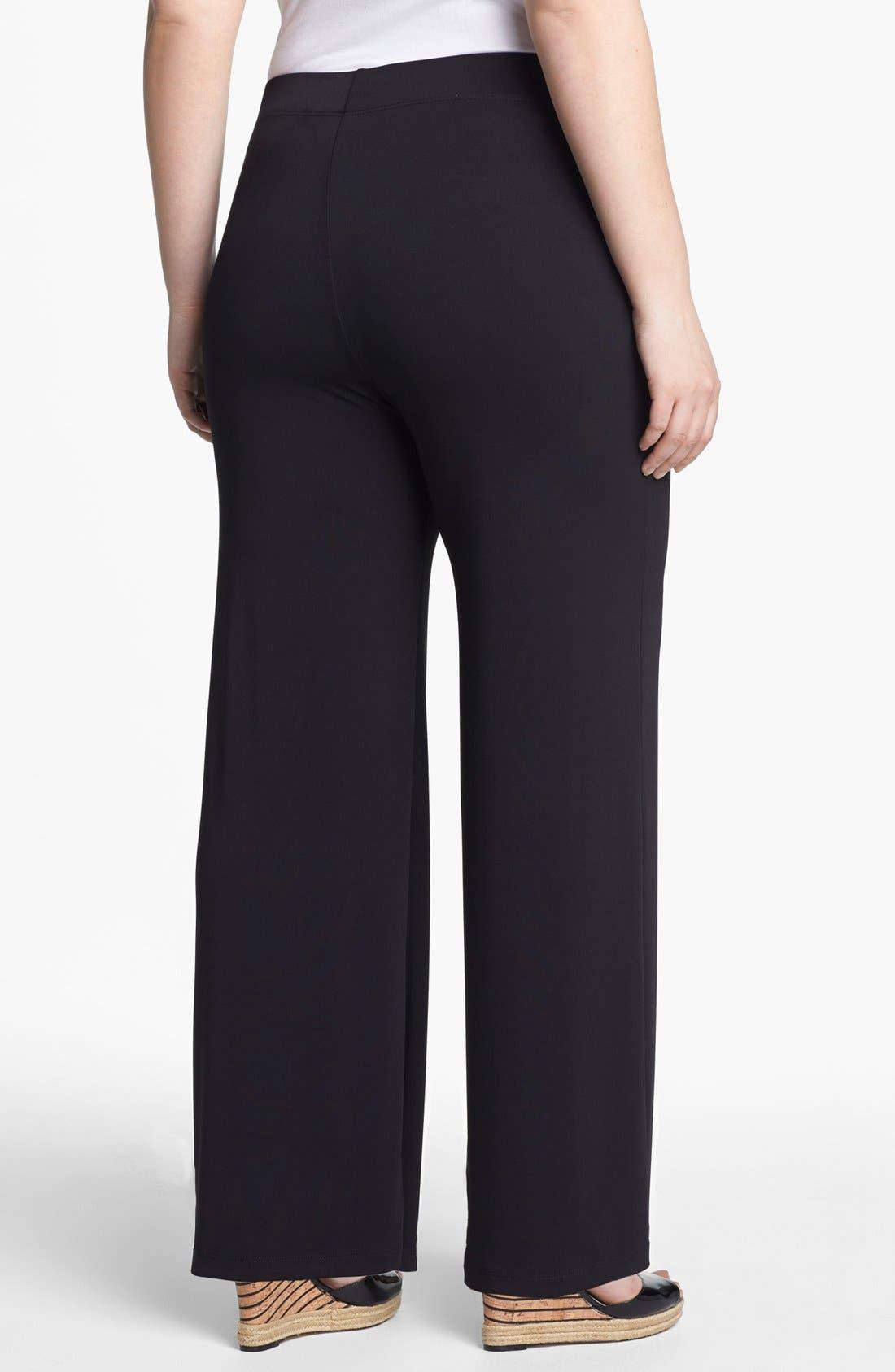 Alternate Image 2  - Evans Wide Leg Pants (Plus Size)