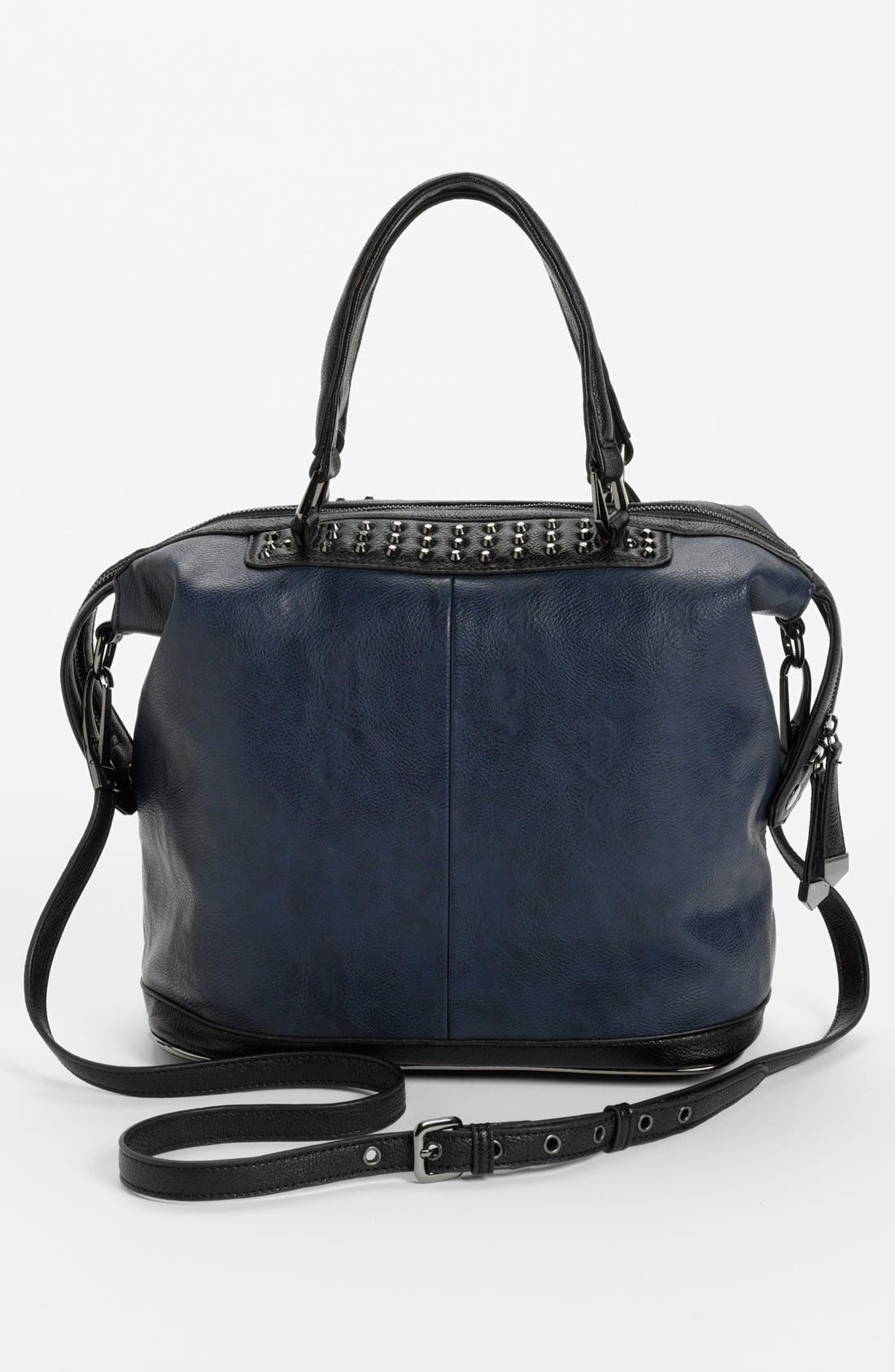 Alternate Image 4  - POVERTY FLATS by rian Studded Satchel, Large