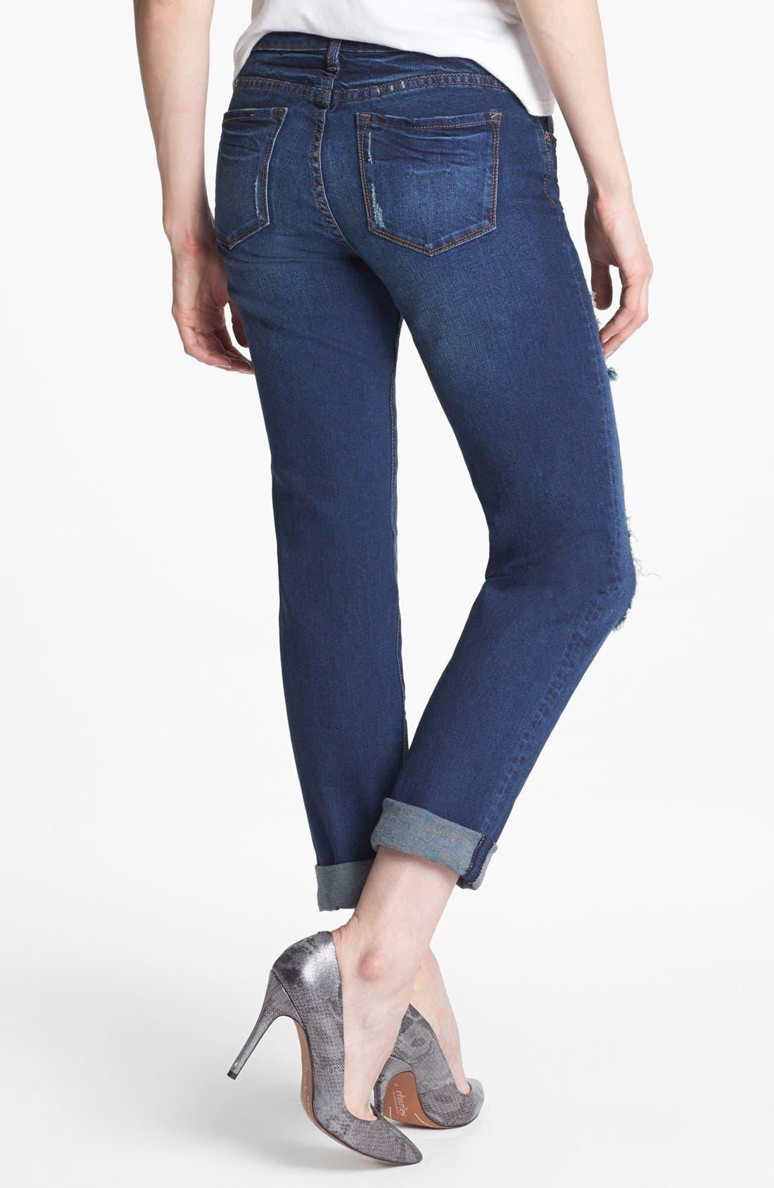 Alternate Image 3  - KUT from the Kloth 'Catherine' Destroyed Slim Boyfriend Crop Jeans (Artist)