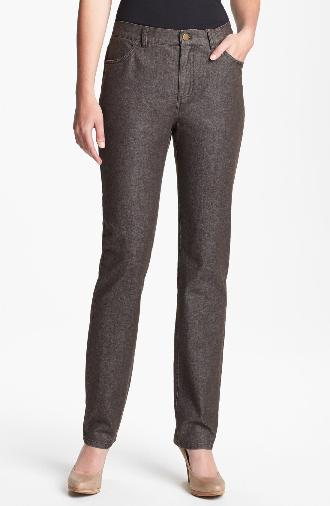 Alternate Image 1 Selected - Lafayette 148 New York Curvy Fit Slim Leg Jeans