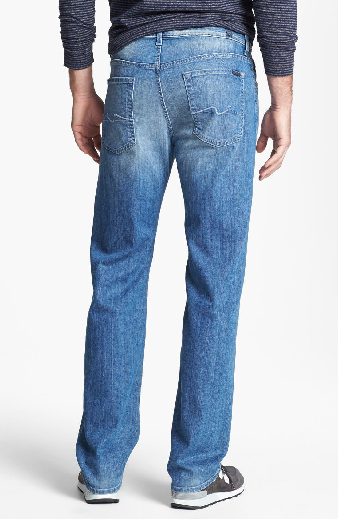 Alternate Image 2  - 7 For All Mankind® 'Austyn' Relaxed Fit Jeans (Washed Out)