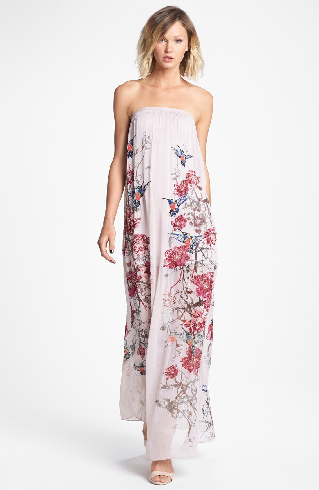 Main Image - French Connection 'Rio' Embellished Print Maxi Dress