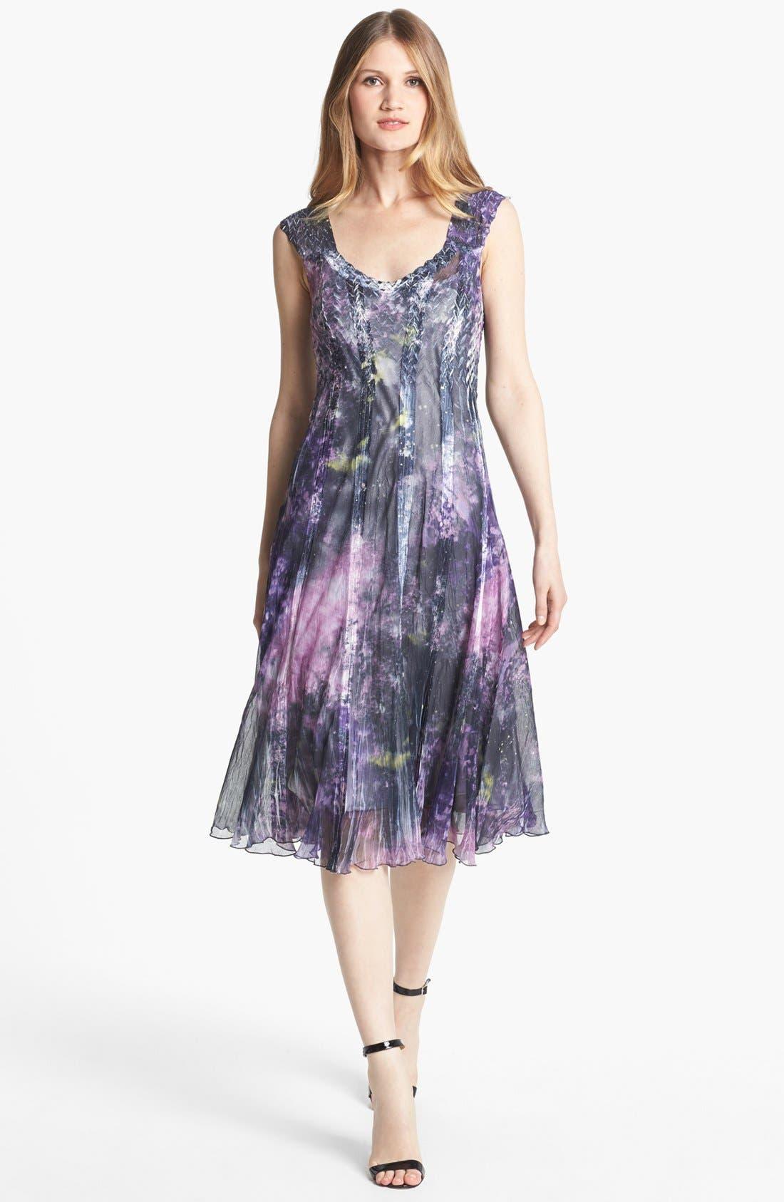 Alternate Image 1 Selected - Komarov Print Chiffon Dress